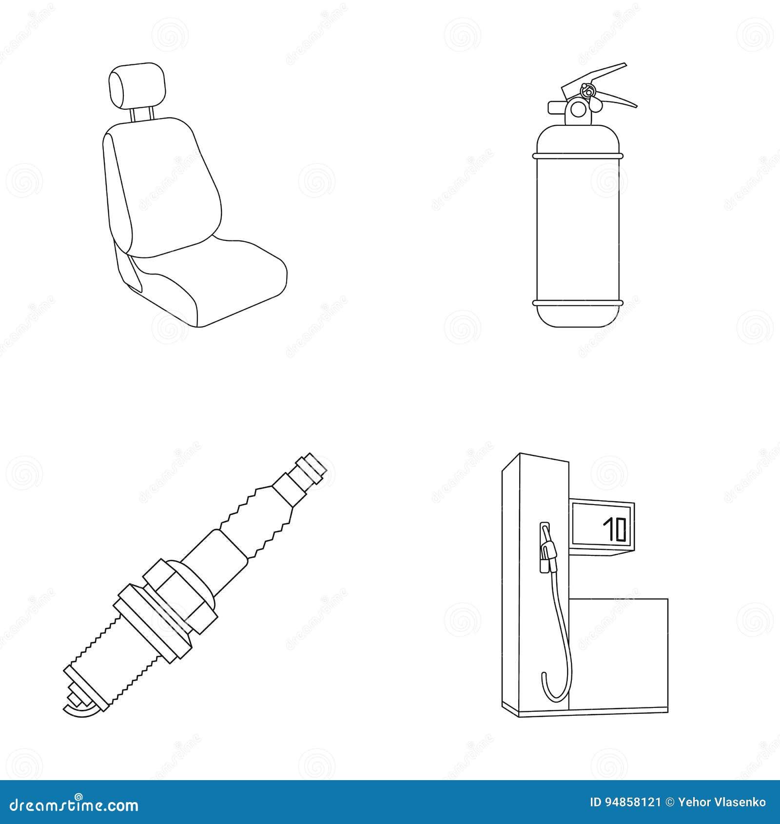 petrol station vector cartoon vector