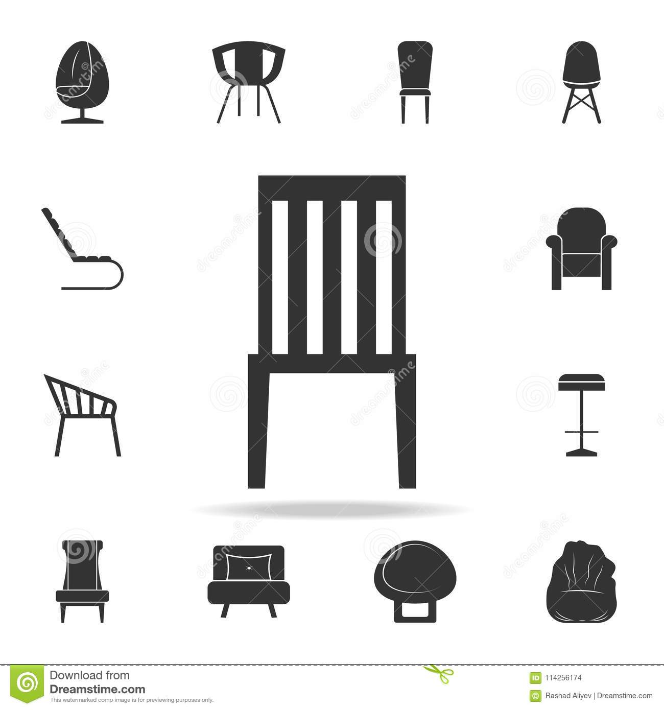 Chair icon detailed set of furniture icons premium quality graphic design one of the collection icons for websites web design mobile app on white