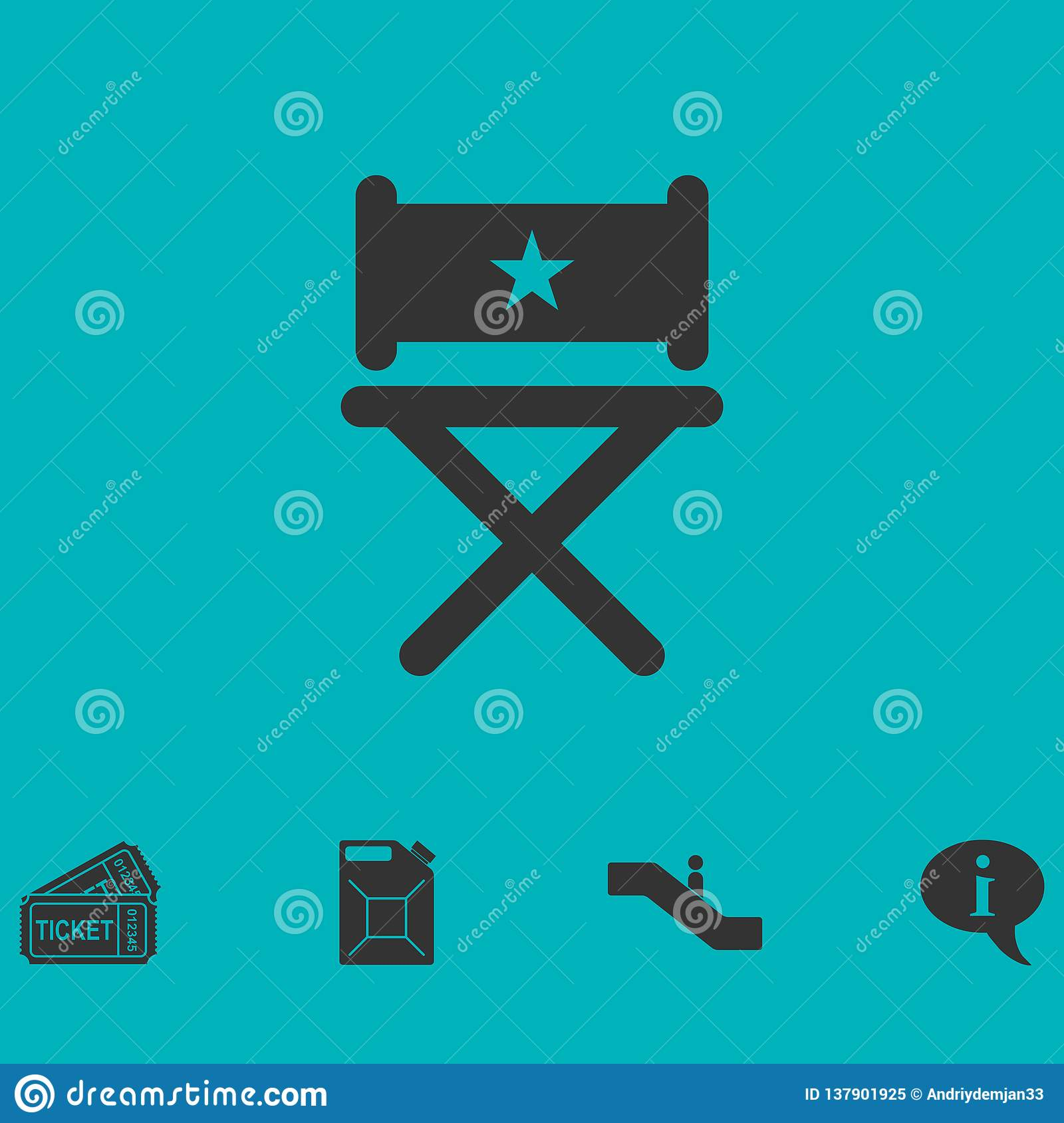 Chair icon flat