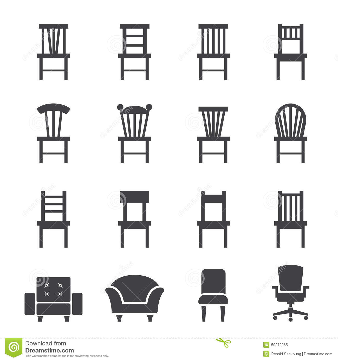 Chair Icon Stock Vector Image Of Object Chaise Lounge