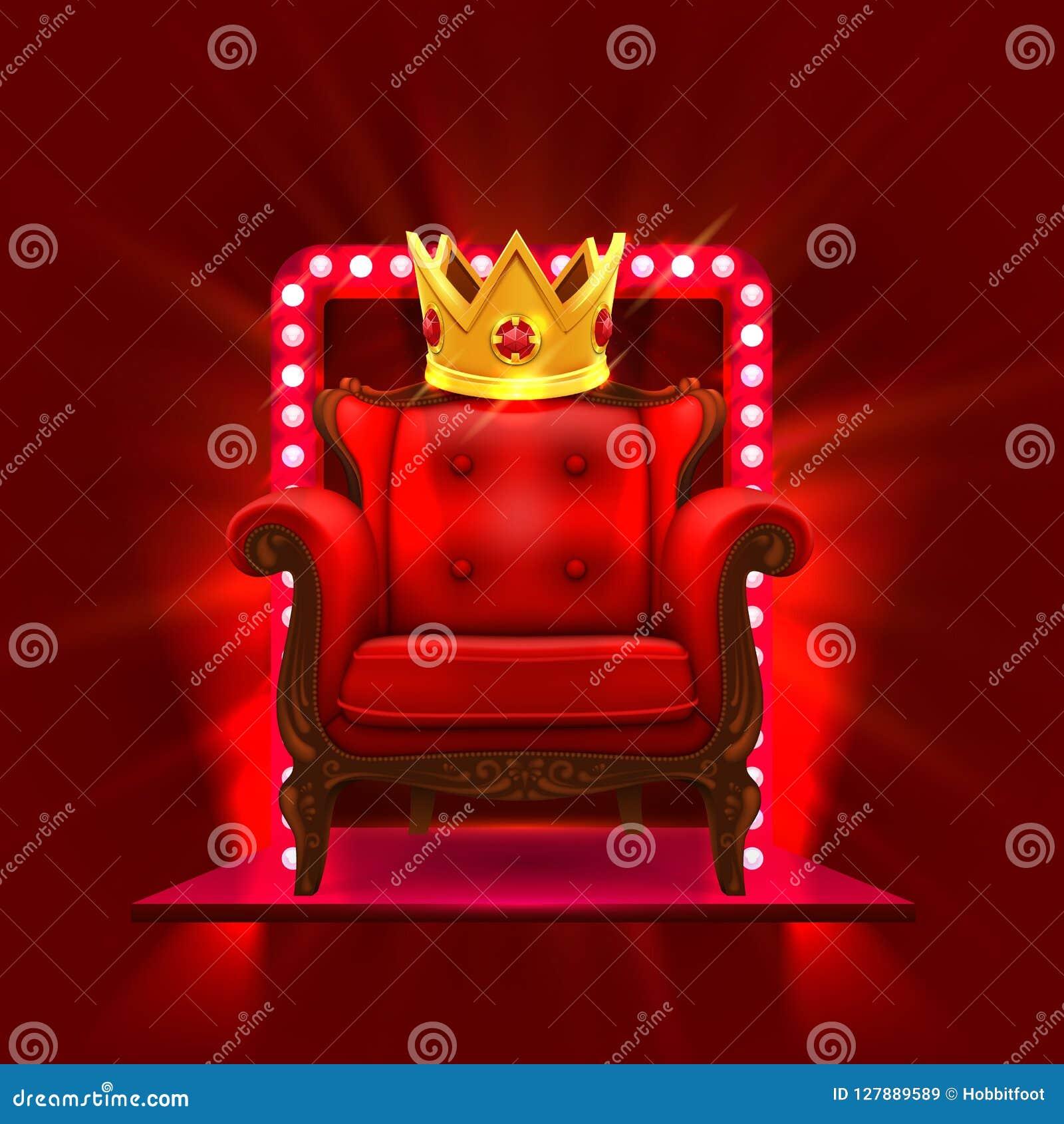 Chair King Casino Podium Stock Vector Illustration Of Celebration 127889589