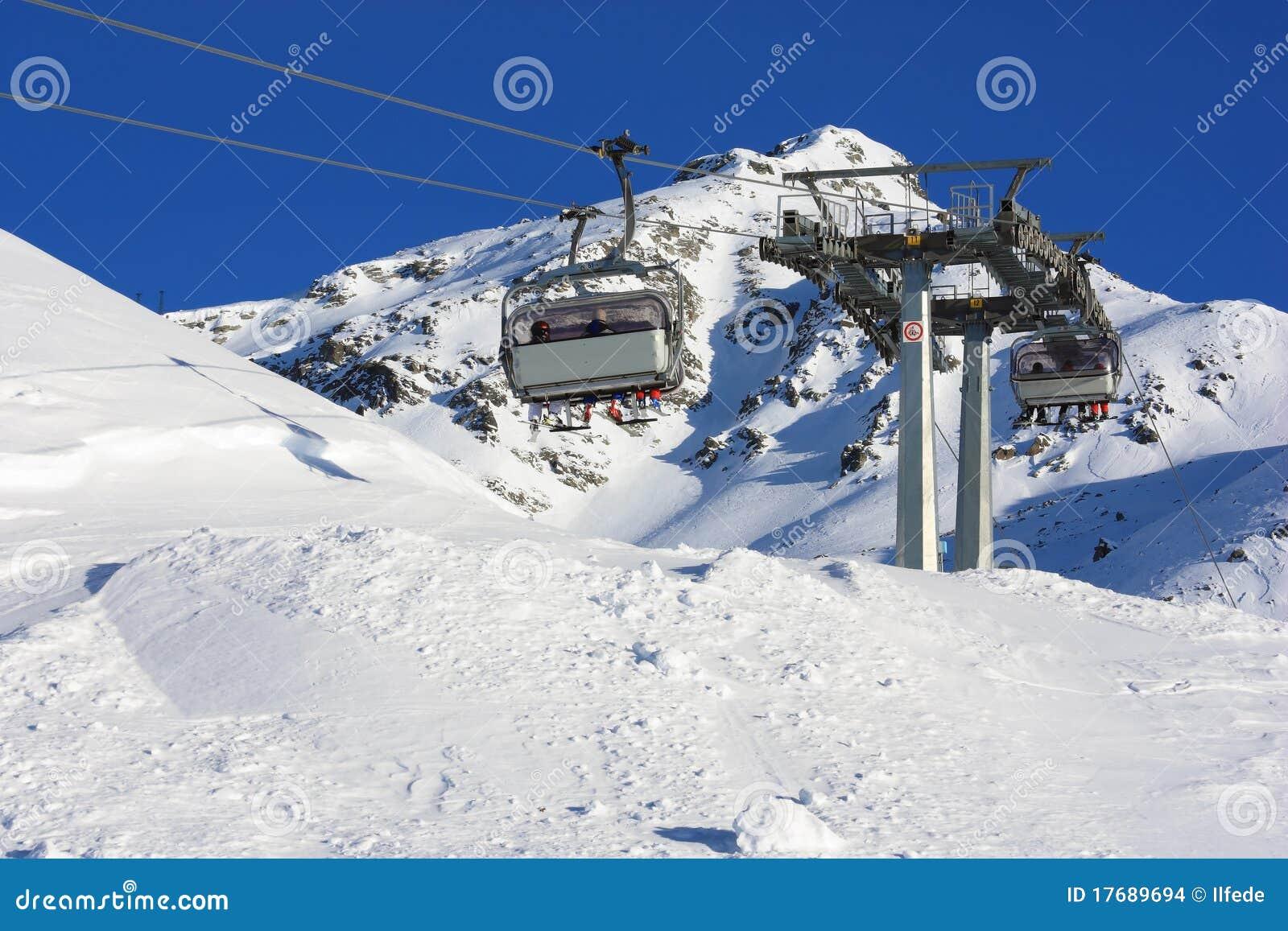 Chair lift in italian ski resort
