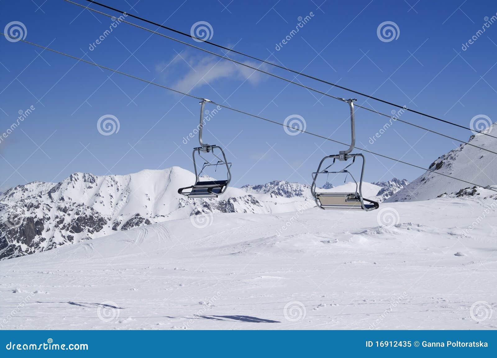 Chair lift at ski resort royalty free stock photo image 16912435