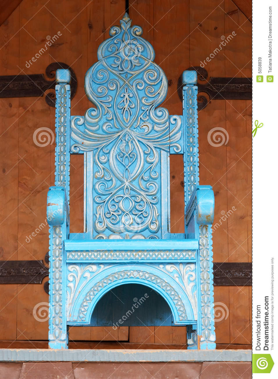 Chair Made Under An Ancient Imperial Throne Royalty Free
