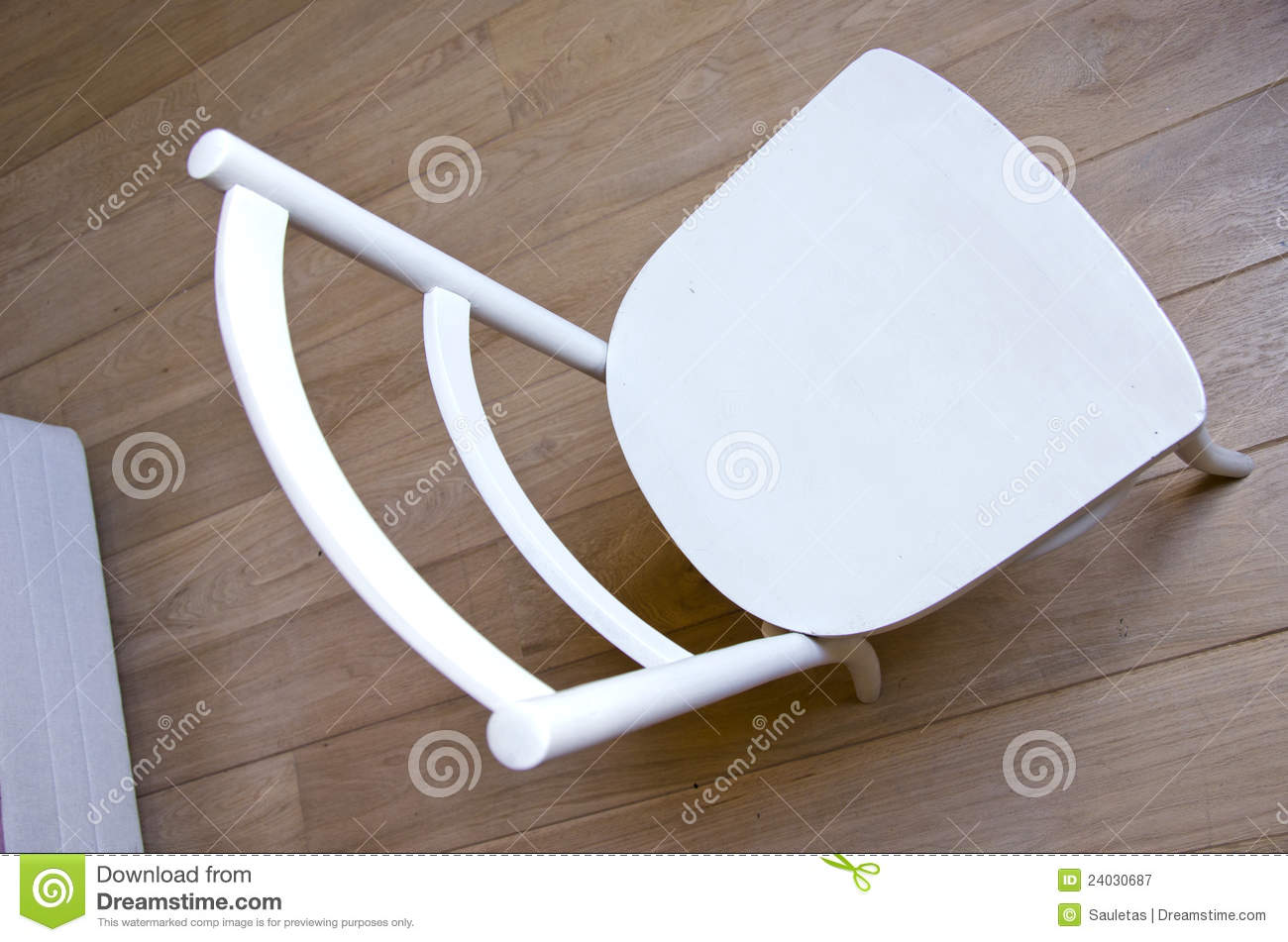 Chair Object Retro Paint White Stand Wooden Floor Royalty Free Stock Photogra
