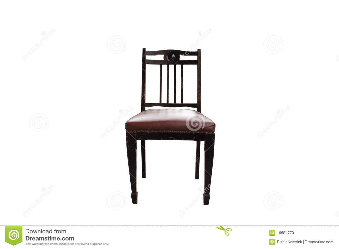 Chair Old For White Background Stock Photo Image 19584770
