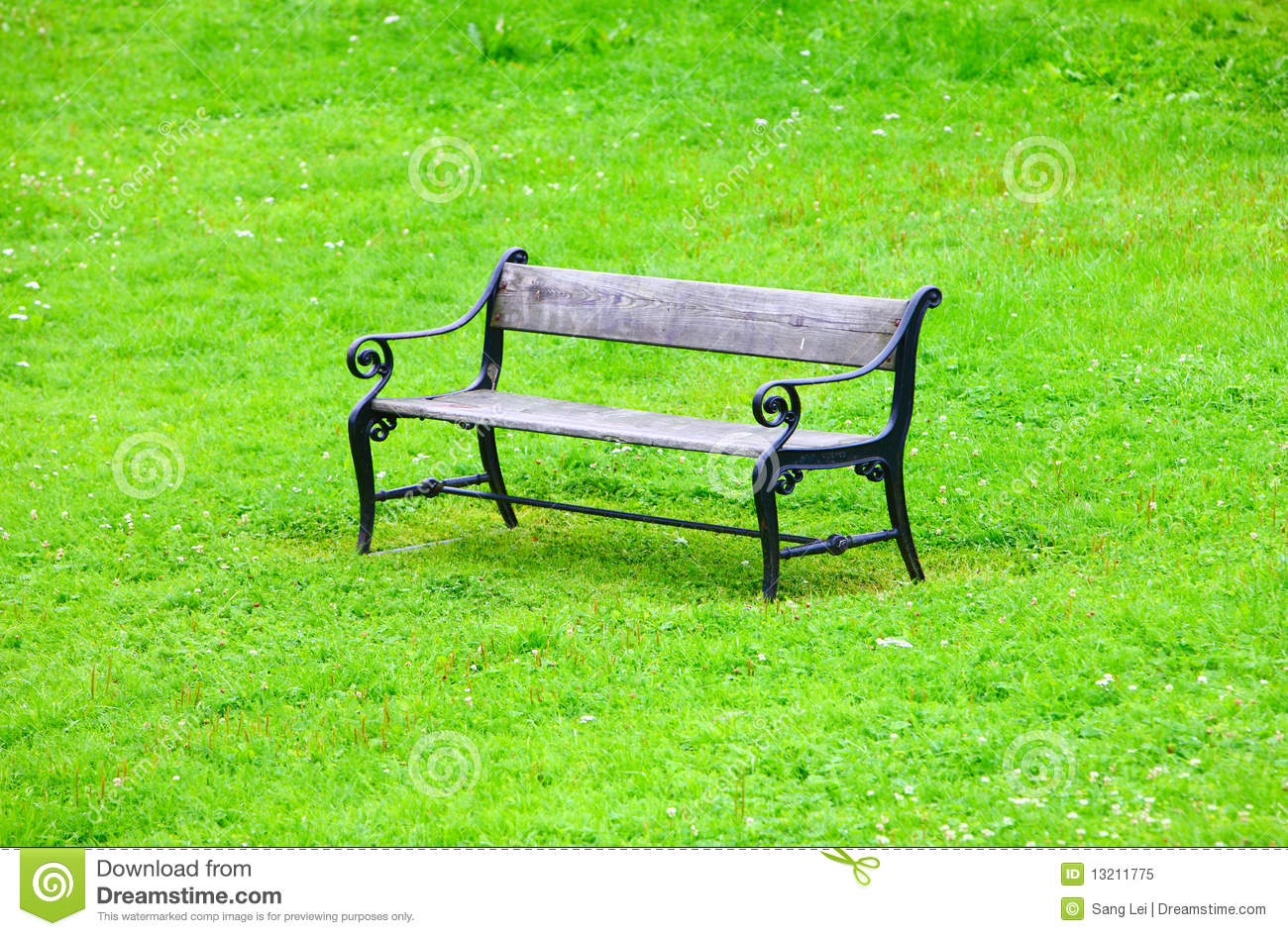 Chair In Park Royalty Free Stock Photo - Image: 13211775