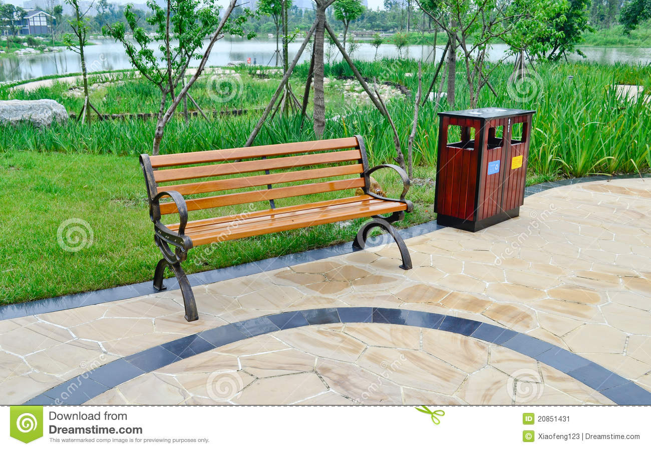 Chair in the park stock image image 20851431 for Sillas para parques