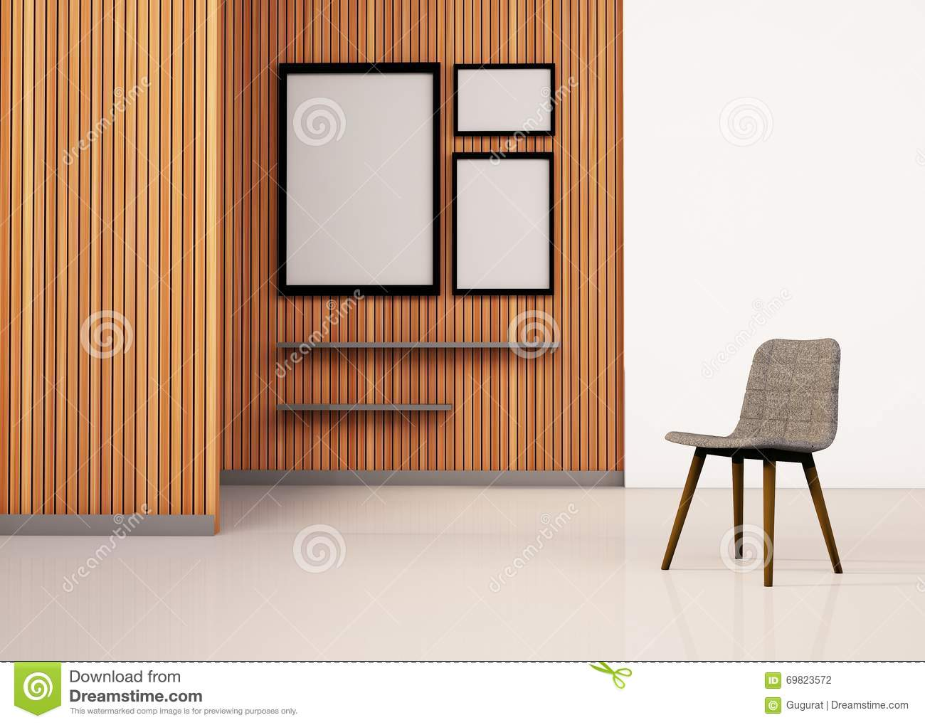 Chair and picture frame minimal art stock illustration for Minimal art gallery