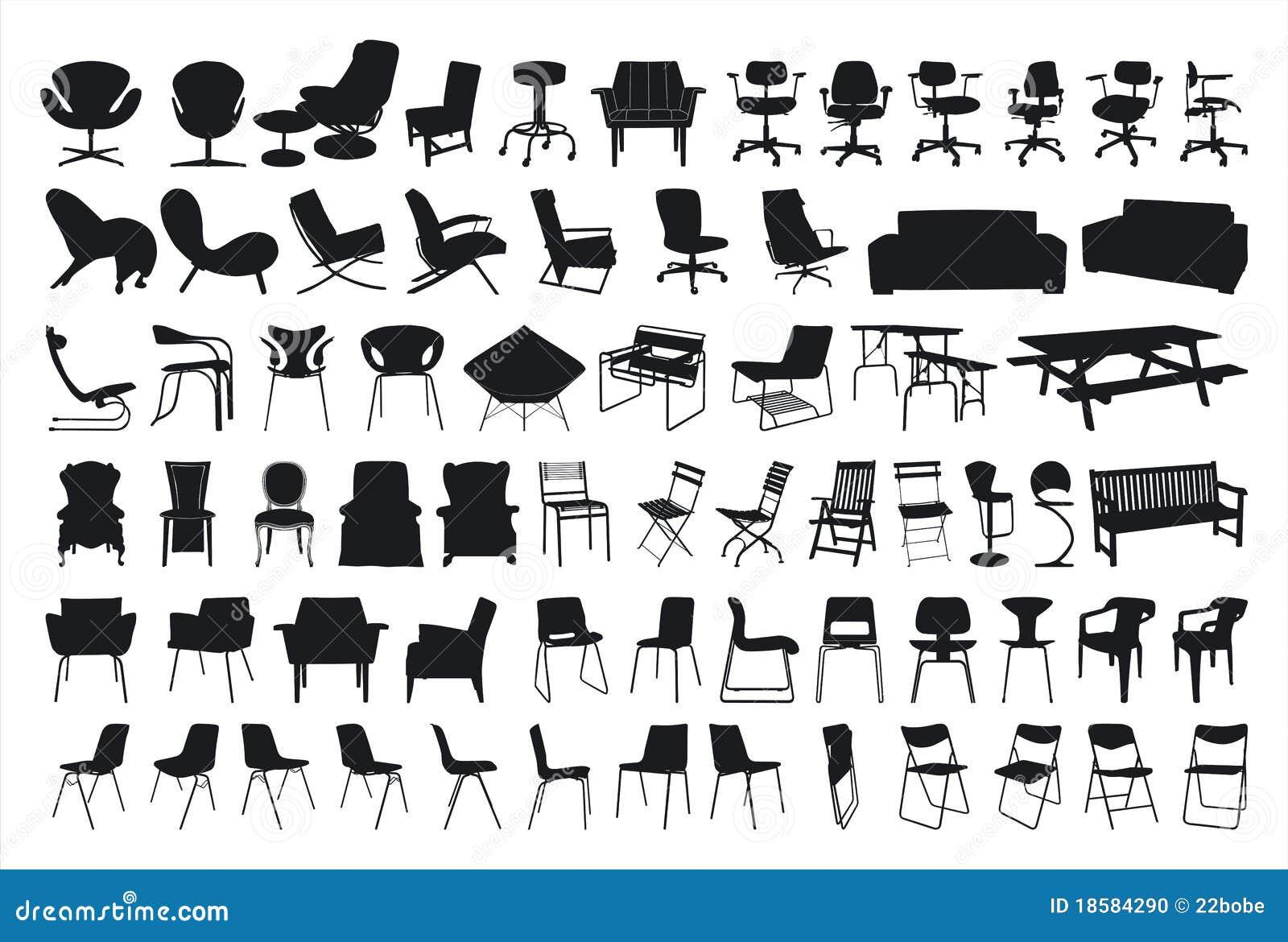 adirondack chair silhouette. Adirondack Chair Silhouette Vector