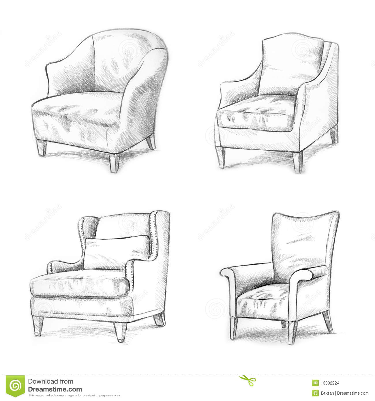 Chair Sketching Stock Images Image 13892224