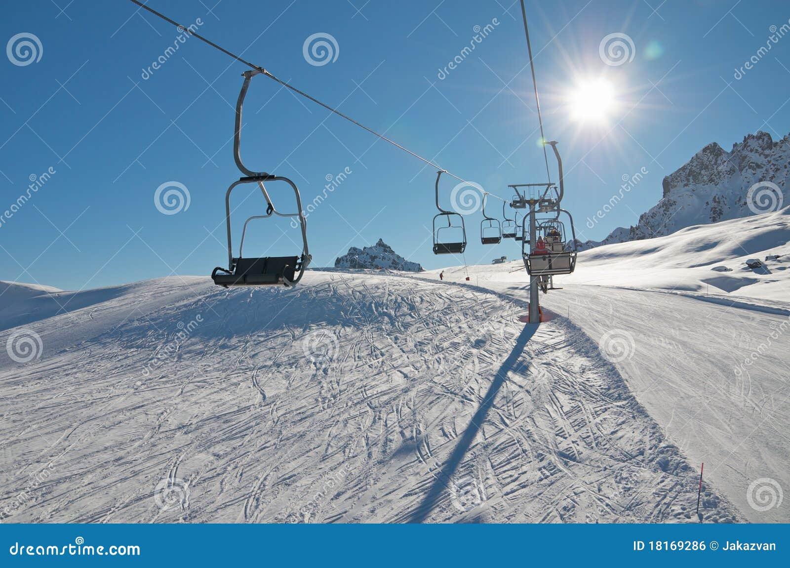 Chair Ski Lift Over Snow Royalty Free Stock Image Image 18169286