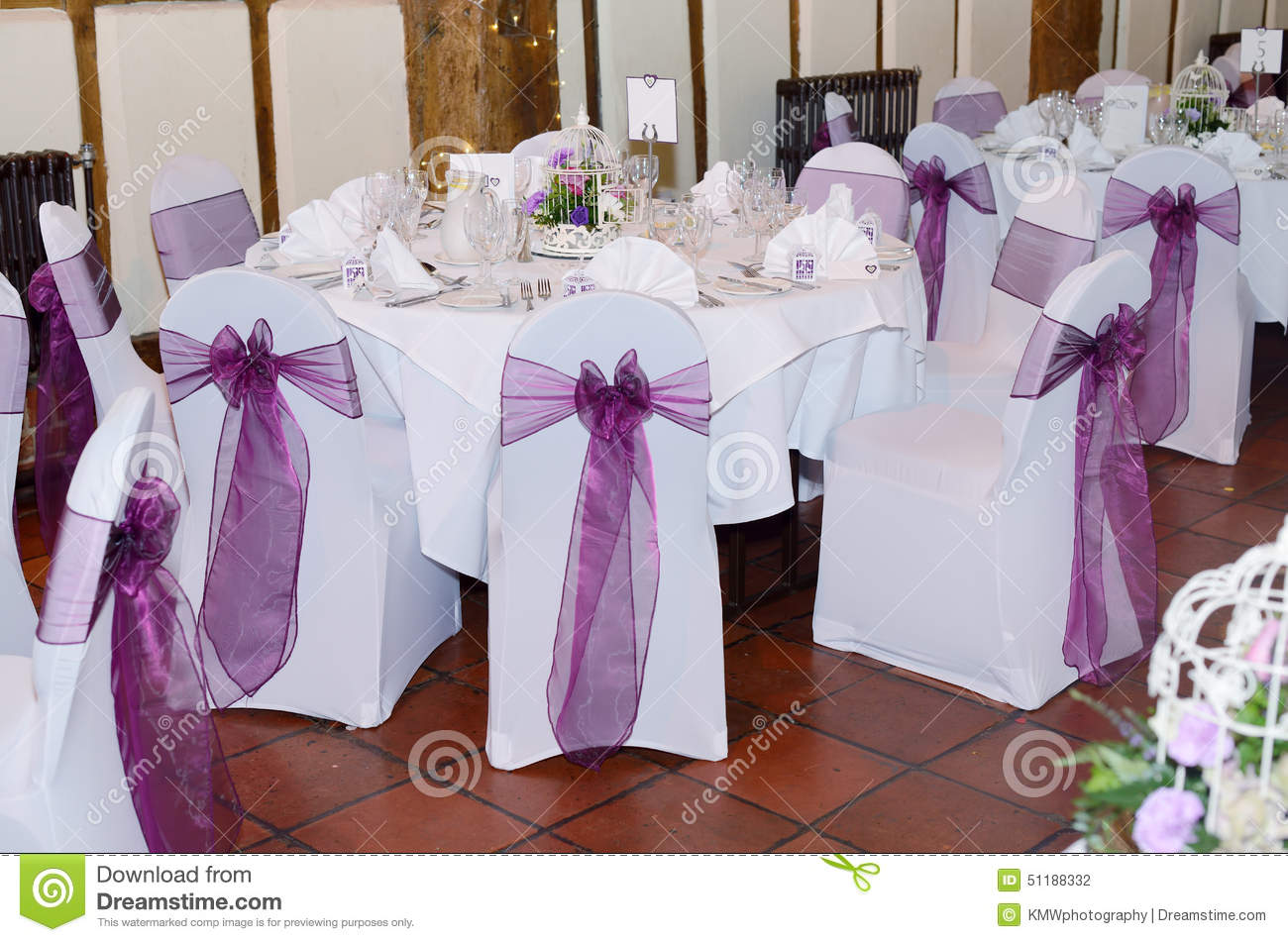 Chair And Table Cover At Wedding Stock Photo Image Of