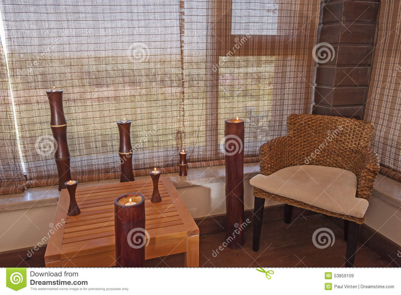 Chair and table in a relaxation room stock photo image for Chair next to window
