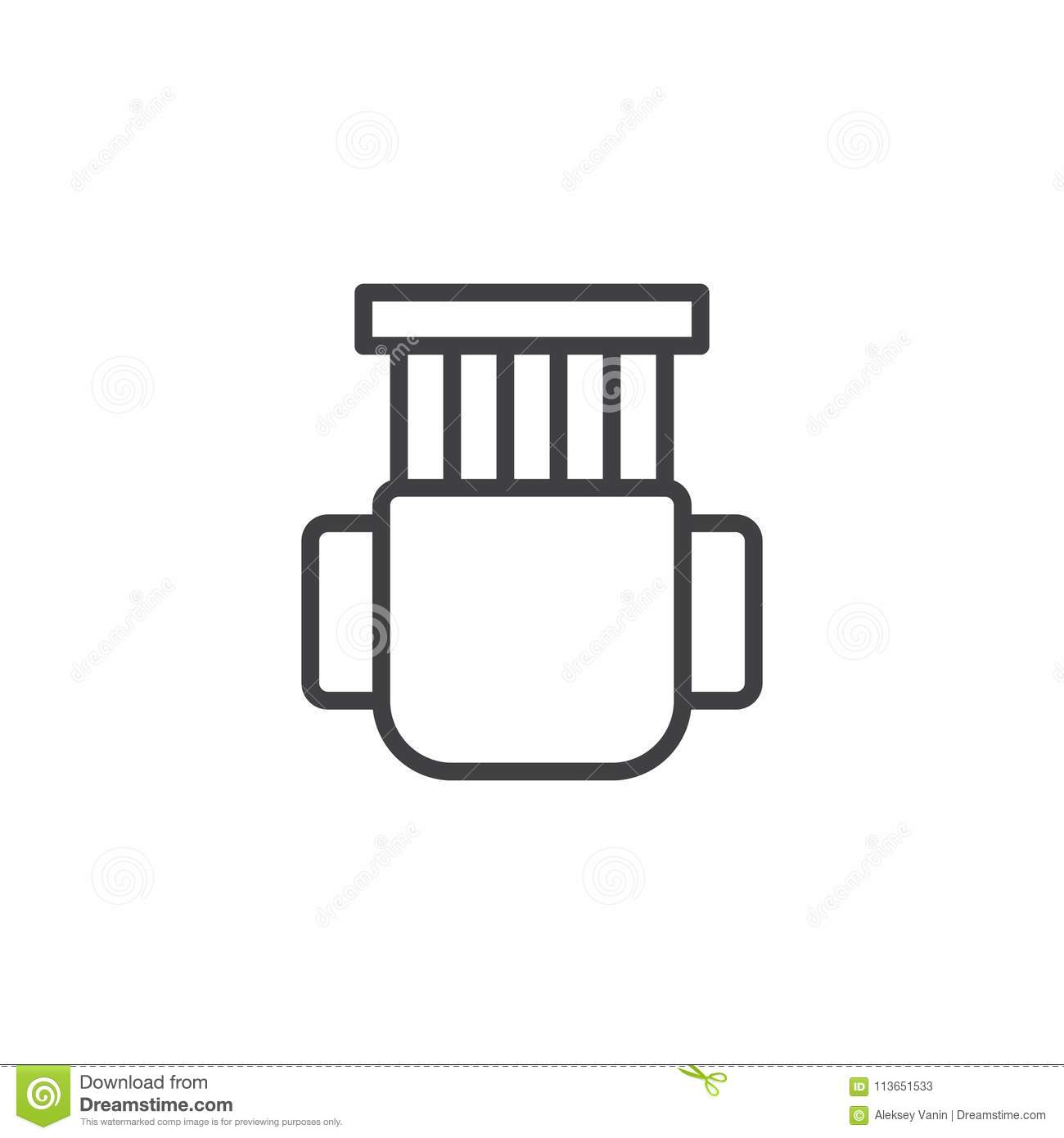 Chair Top View Outline Icon Stock Vector Illustration Of Room