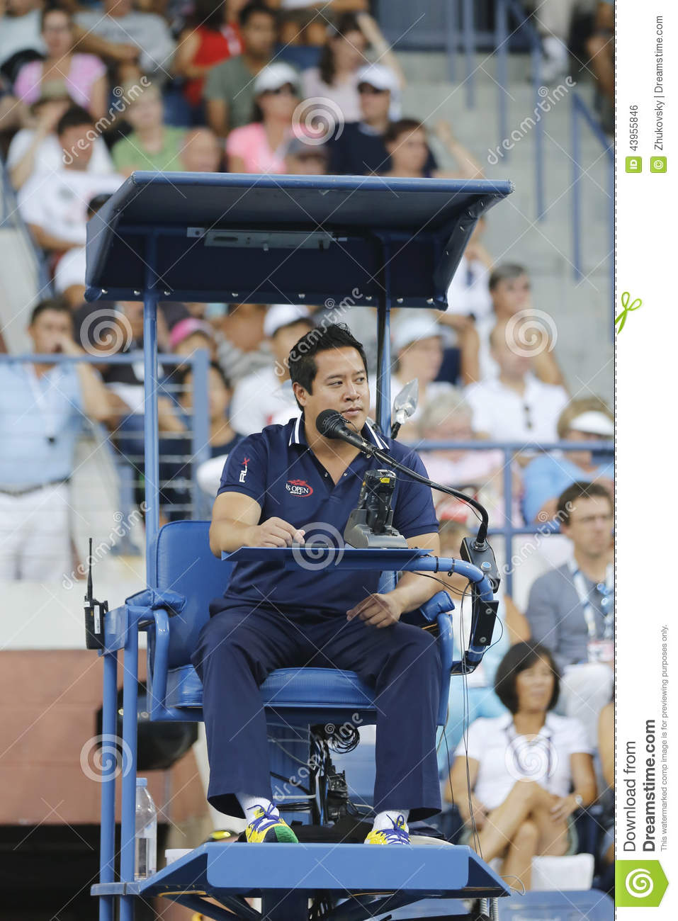 Chair Umpire James Keothavong During First Round Match
