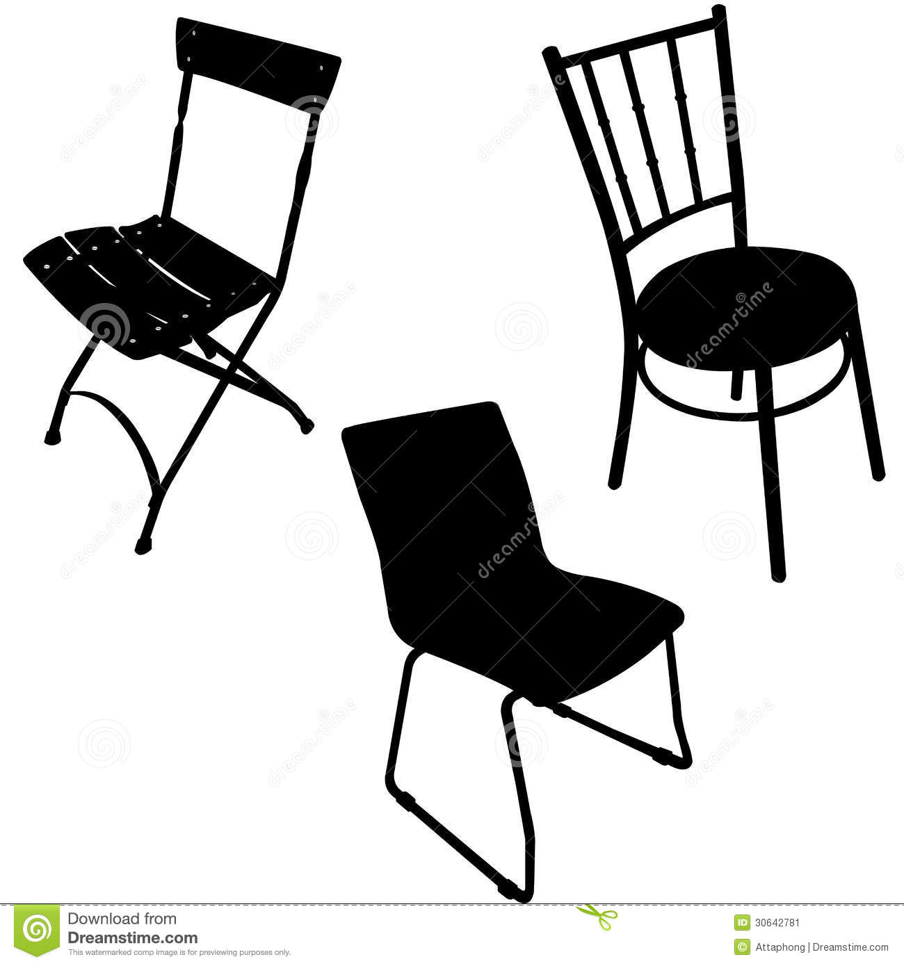 Chair Vector - Silhouette Stock Image - Image: 30642781