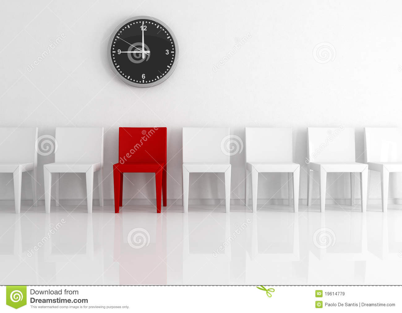 chairs against wall royalty free stock images image 19614779. Black Bedroom Furniture Sets. Home Design Ideas