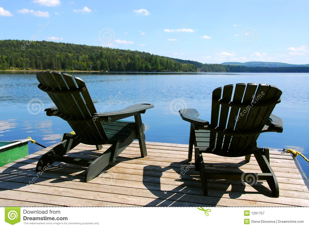 Chairs On Dock Royalty Free Stock Photography - Image: 1291757