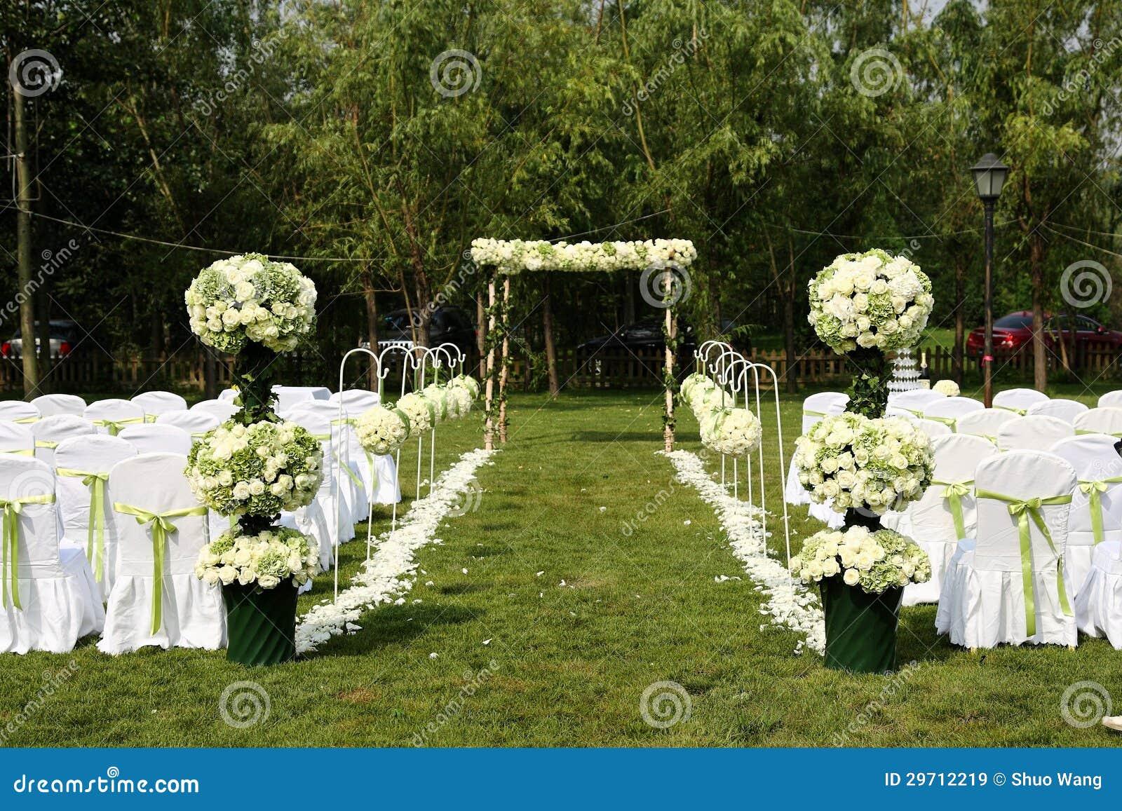 outdoor wedding scene stock image image of celebration 29712219. Black Bedroom Furniture Sets. Home Design Ideas