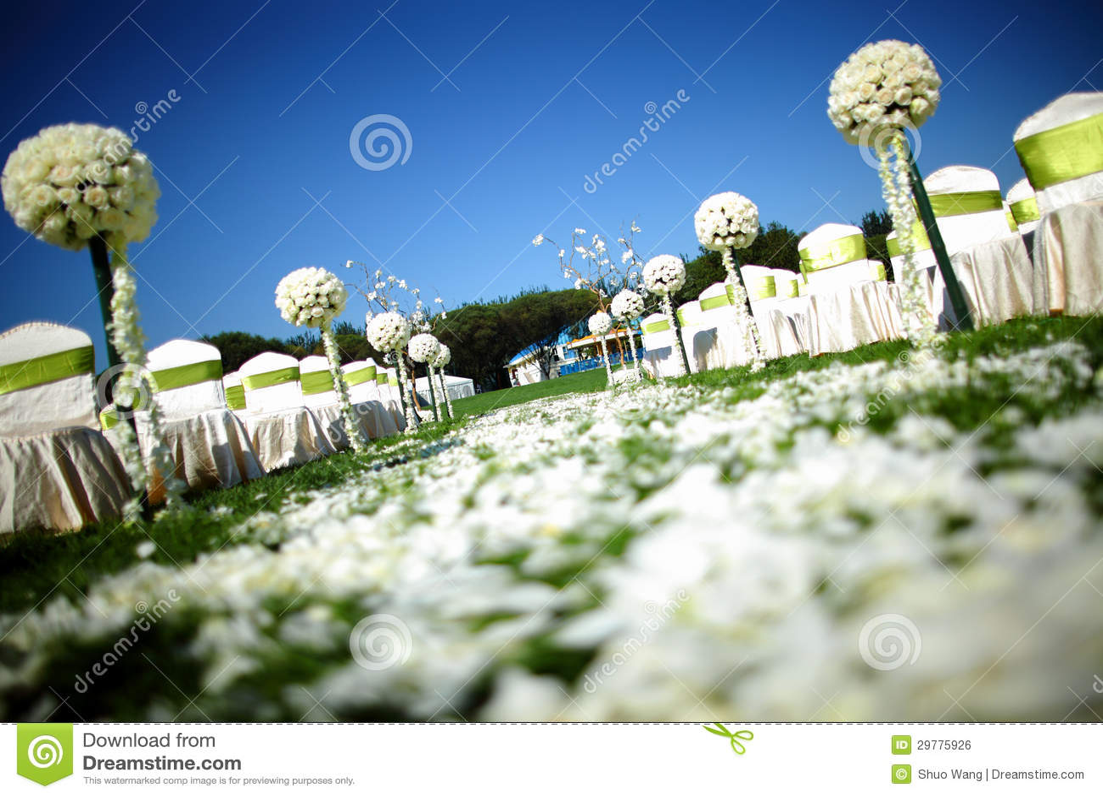 Outdoor Wedding Scene Royalty Free Stock Image - Image: 29775926