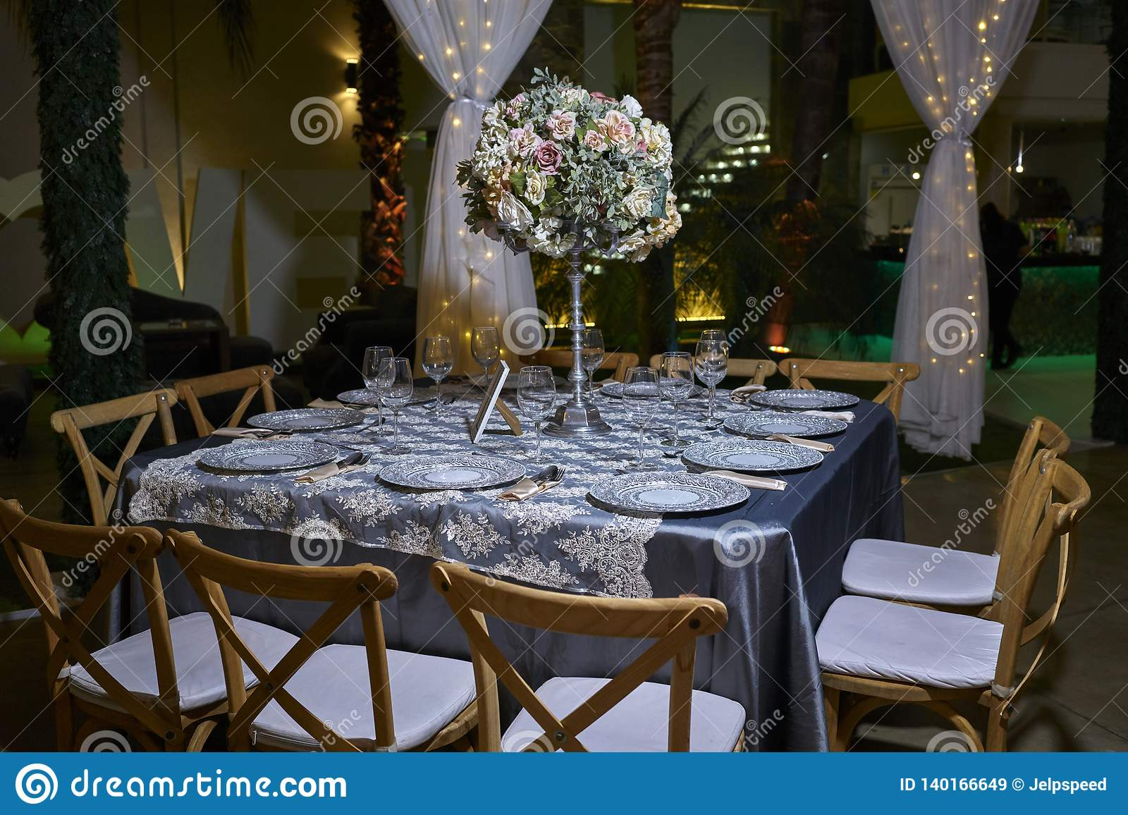 Magnificent Romantic Party Table Setting Elegant Ballroom For Wedding Home Interior And Landscaping Synyenasavecom
