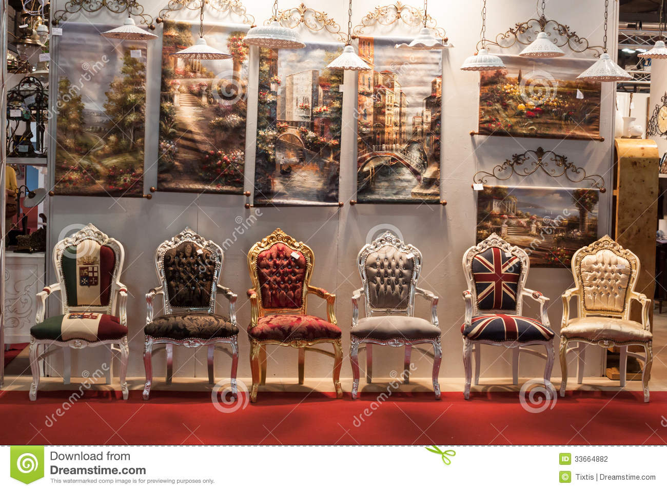 Chairs at macef home show in milan editorial photography for All about interior decoration