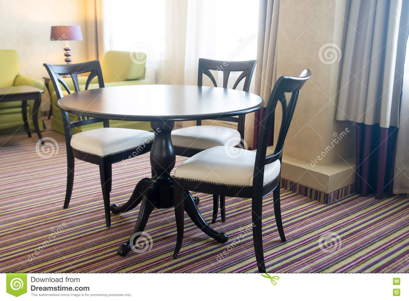Chairs and table furniture dining room