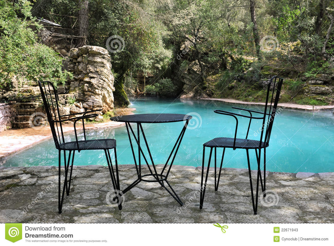 Chairs and table on terrace stock image image 22671943 for Terrace chairs