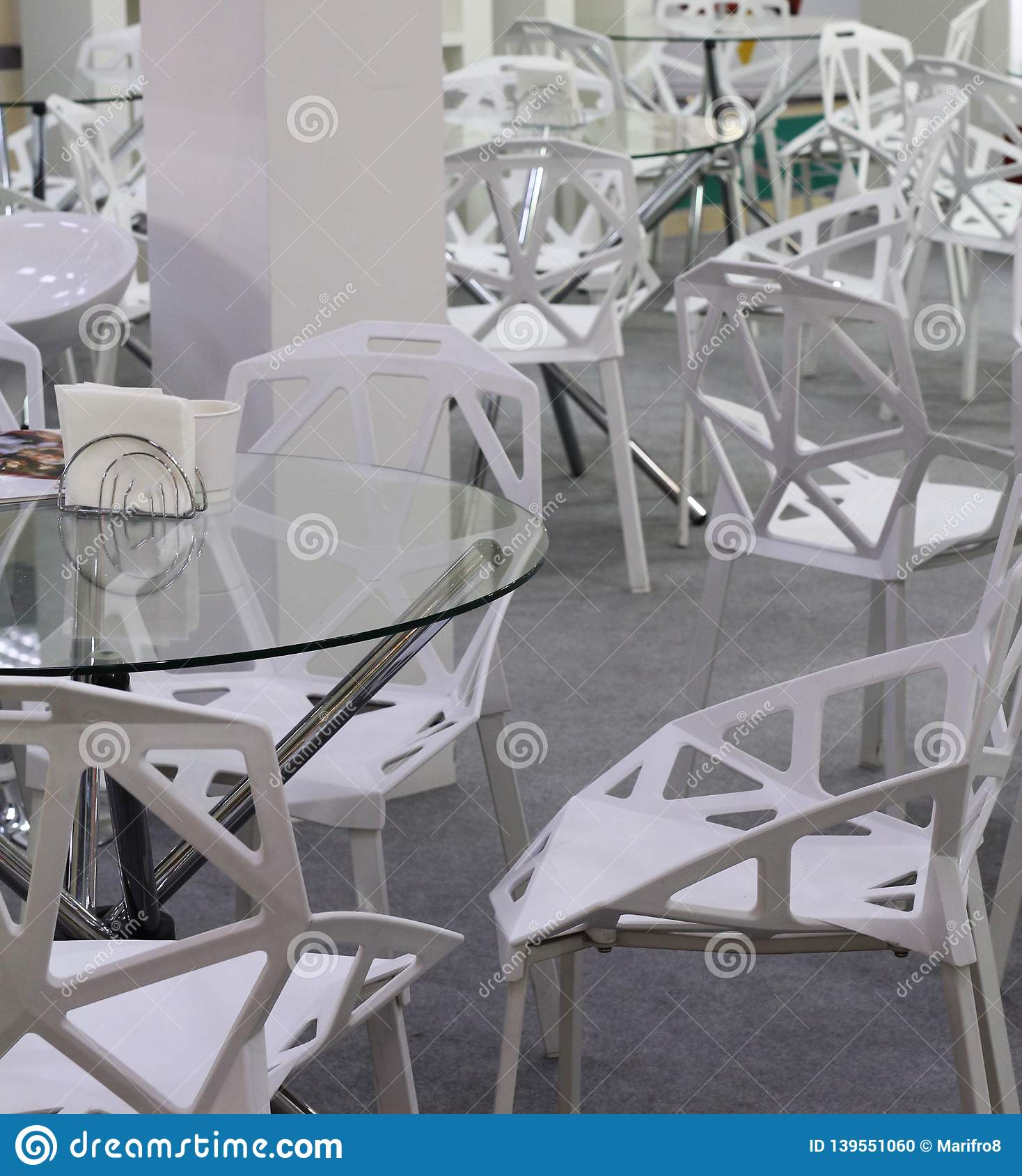 Chairs and tables for meeting rooms or cozy cafes