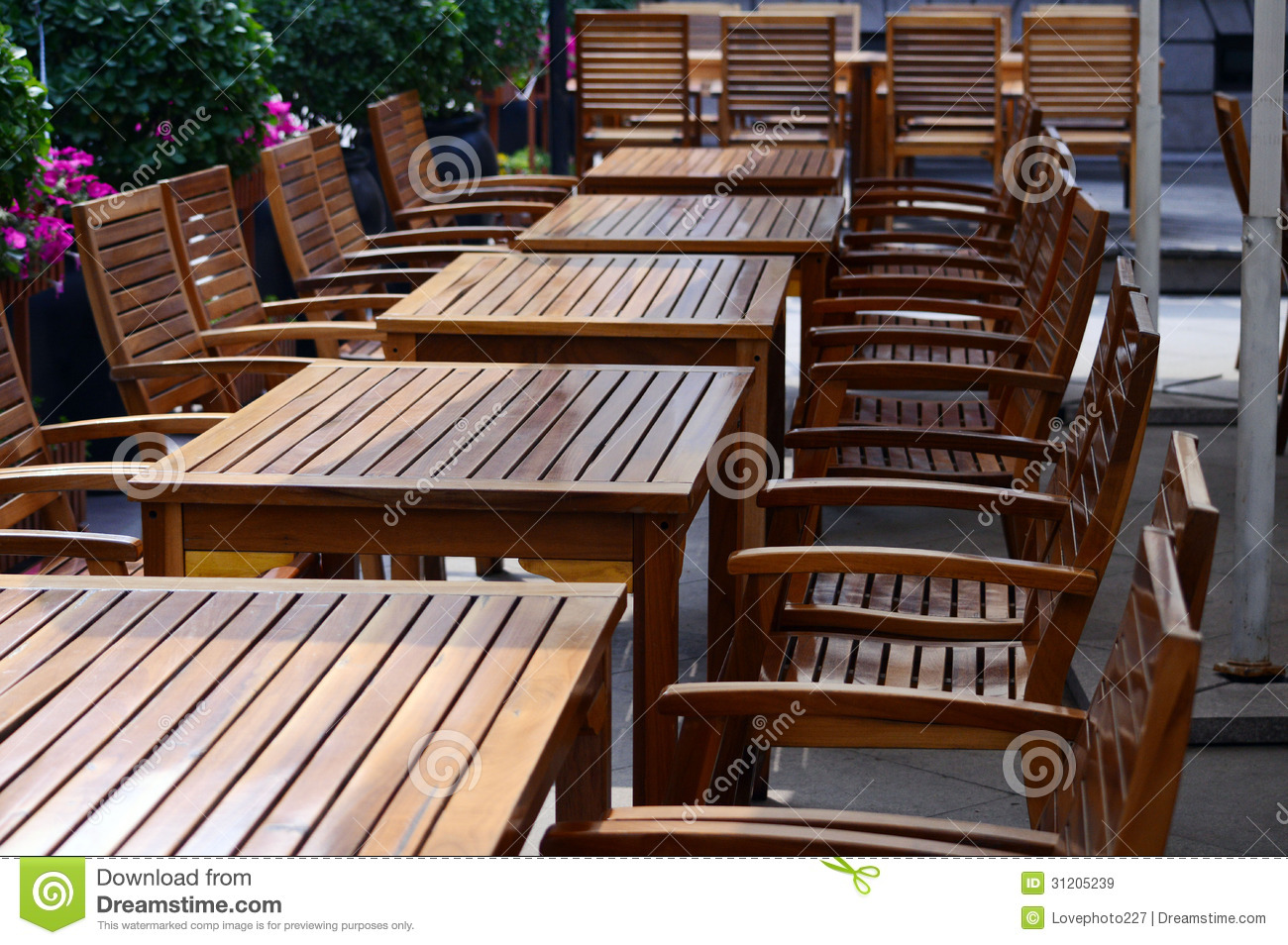 Restaurant Chairs And Tables Stock Image Image Of House Floor 31205239