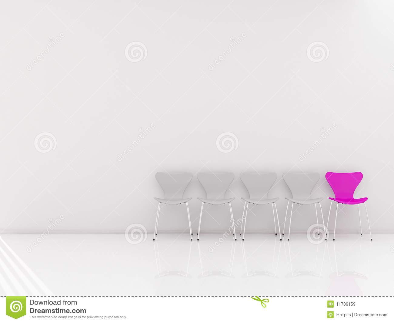 Chairs to face a blank wall royalty free stock images for Four blank walls