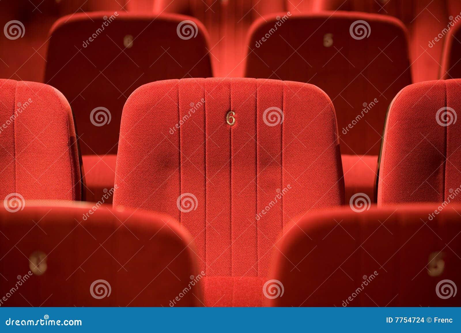 Chairs tom red för bio