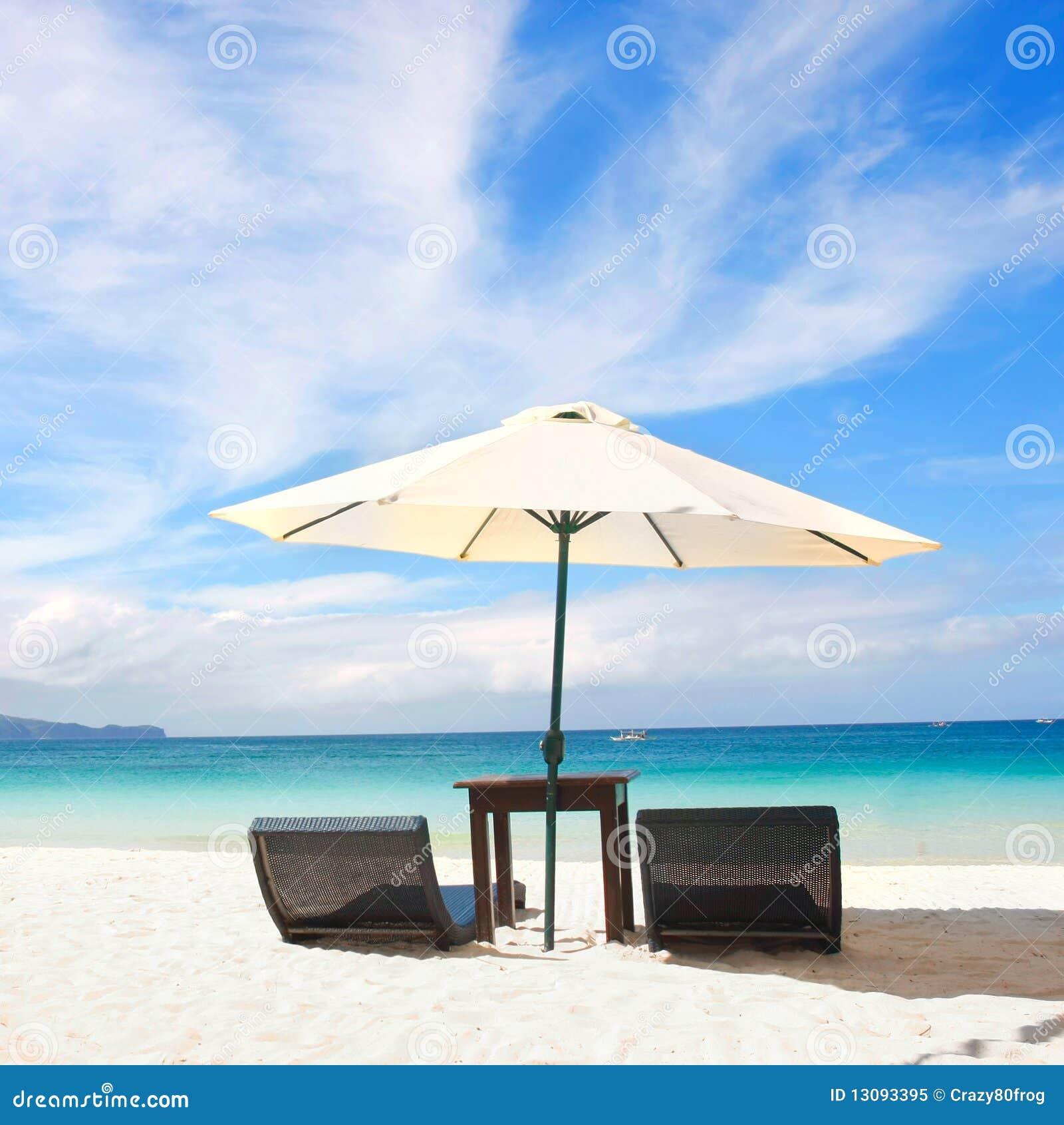 Beach chair with umbrella - Beach Sand Umbrella