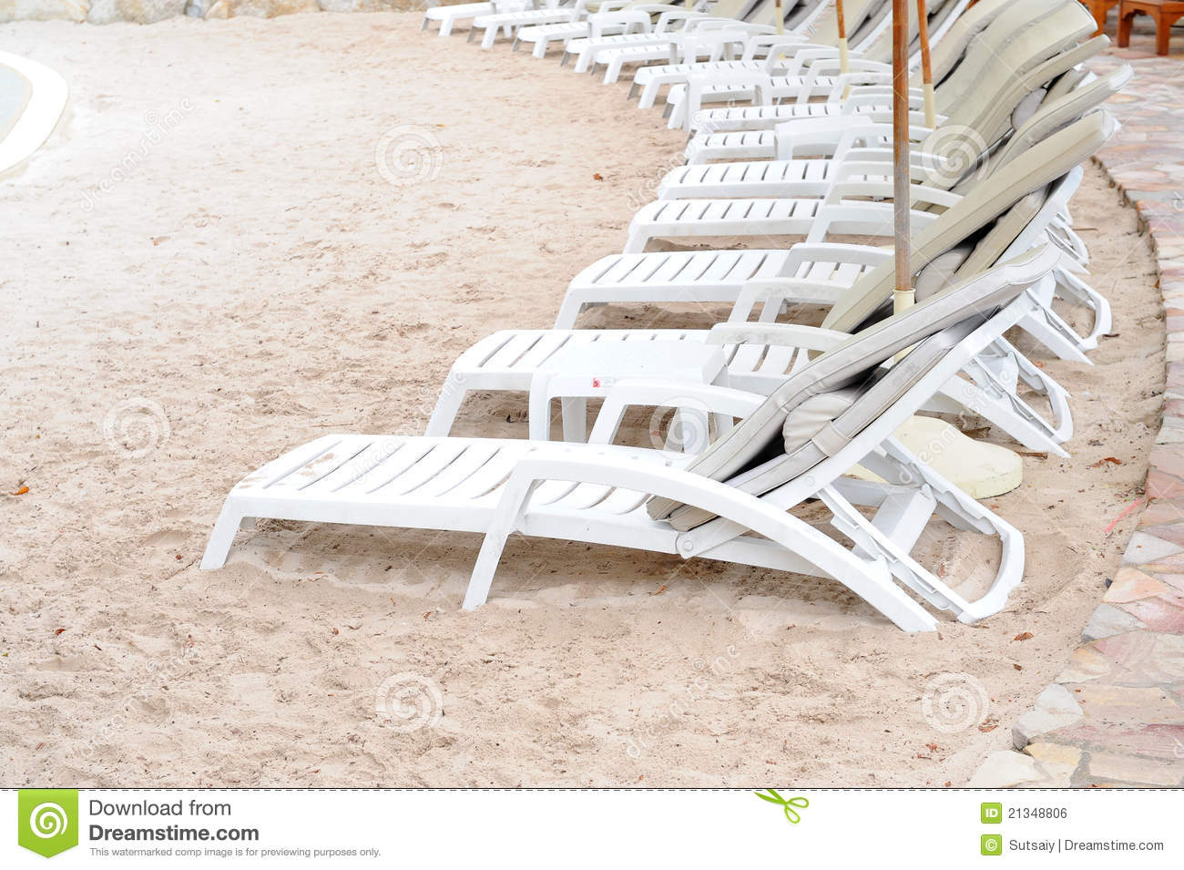 Chairs White Sand Beach Royalty Free Stock Image Image