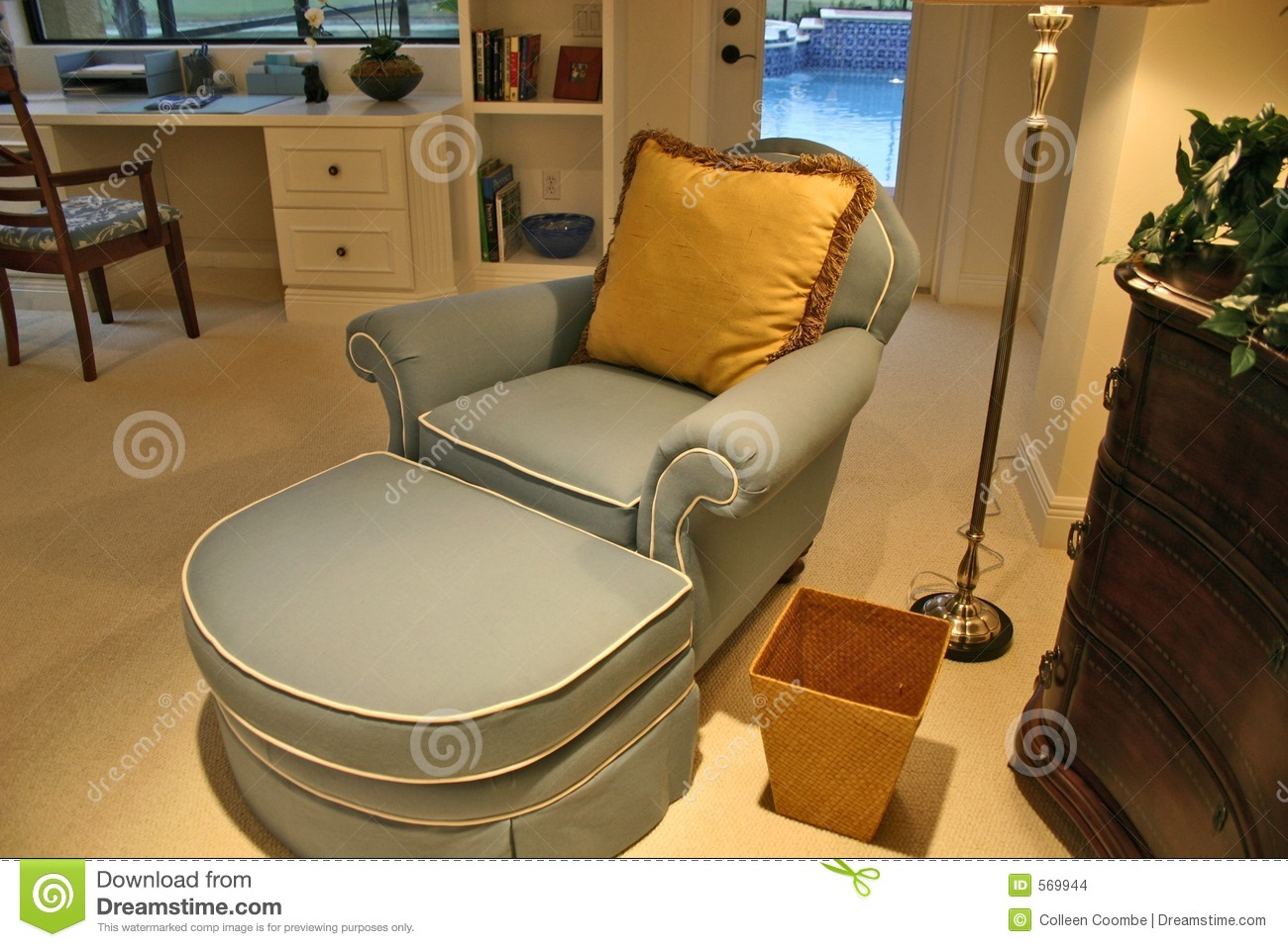 chaise in bedroom office stock images image 569944 plastic trash can garbage wastebasket bin household toilet