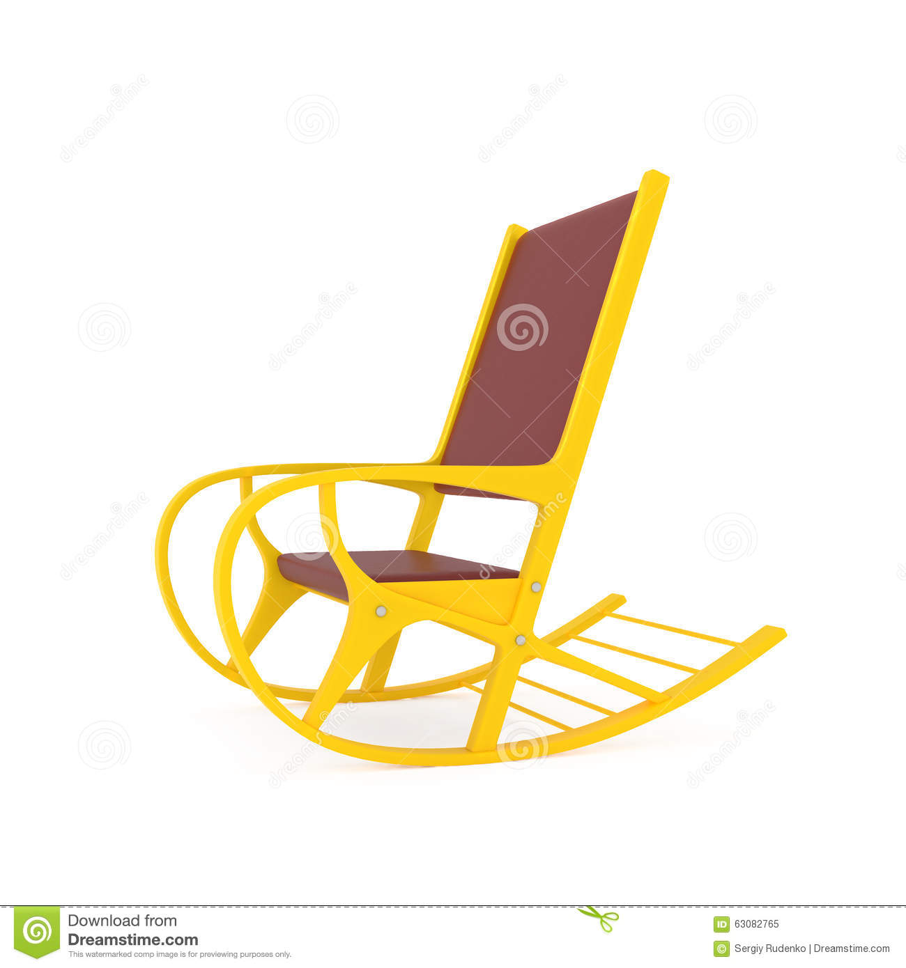 Download Chaise De Basculage Orange Sur Le Blanc Illustration Stock - Illustration du bois, façonné: 63082765