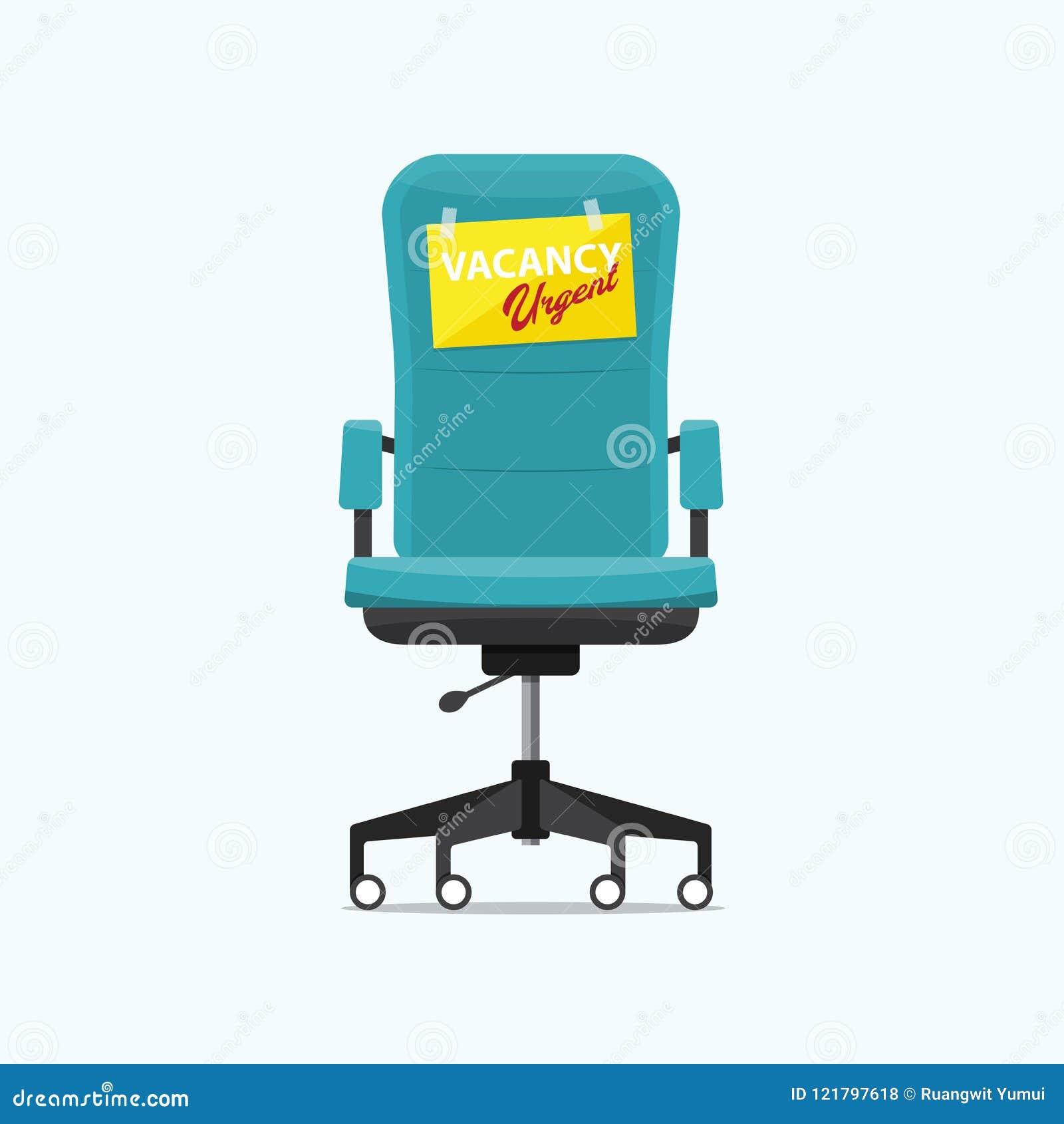 Chaise De Bureau D D'offre Urgent Un Avec Signe Et Vide Le Message Ib7y6Yfgvm