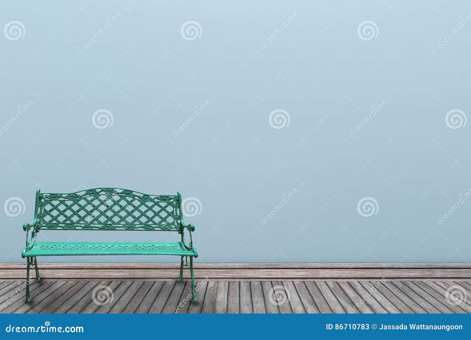 Chaise De Couleur En Pastel Et Vert Du Mur 3d