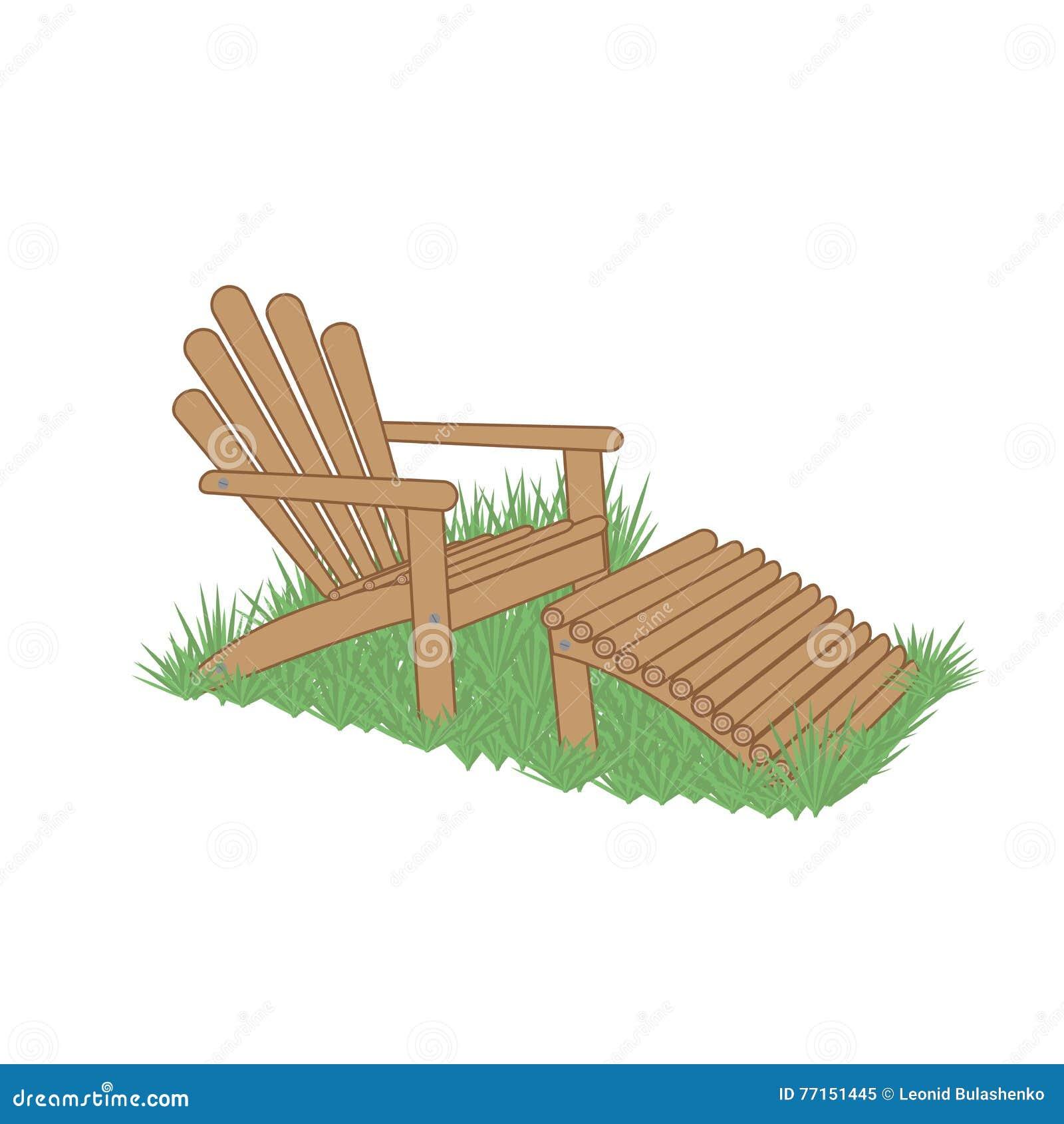 Chaise de jardin dans une herbe