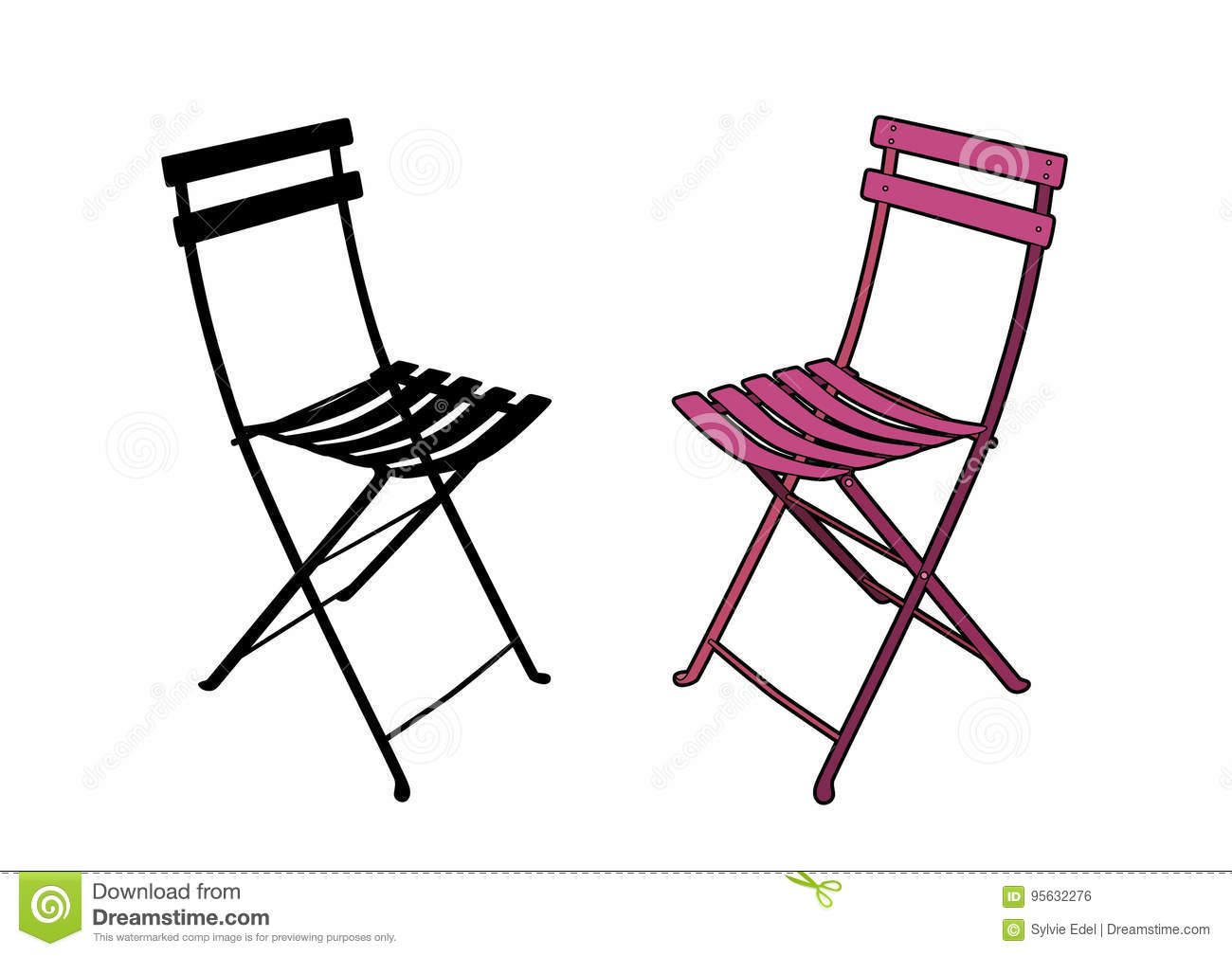 Download Chaise De Jardin Rose Illustration Vecteur Du
