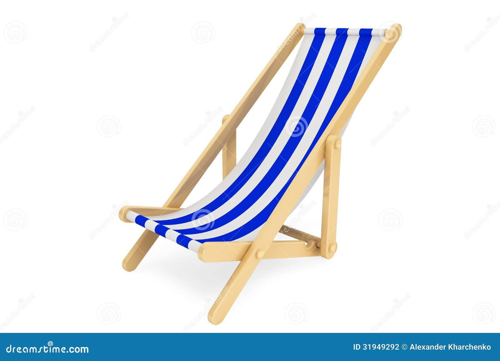 chaise de plage 3d photographie stock image 31949292. Black Bedroom Furniture Sets. Home Design Ideas
