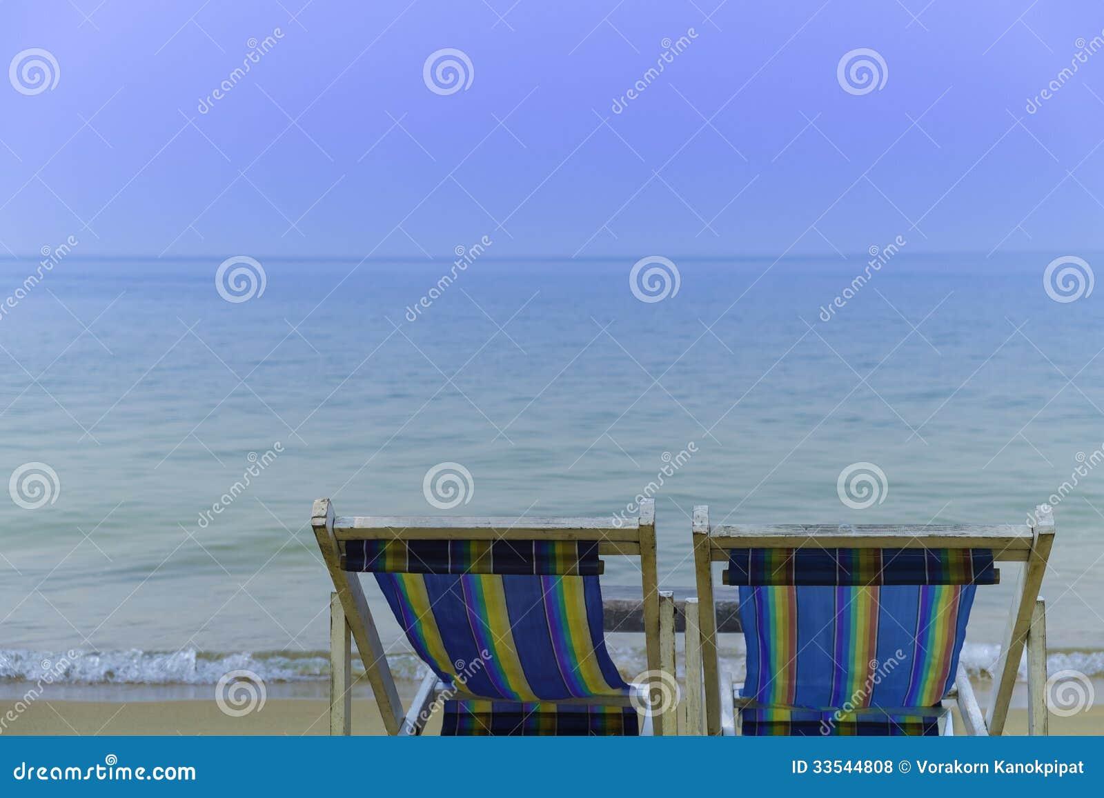 chaise de plage de face