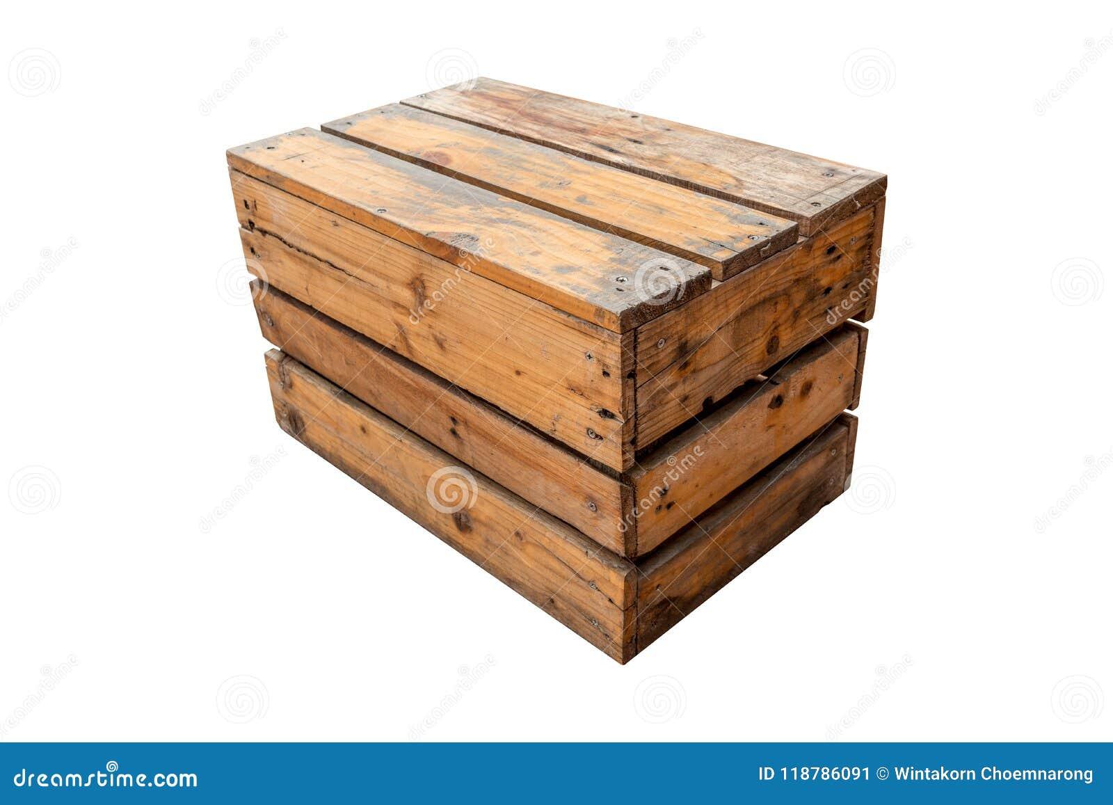 Chaise de vintage faite à partir de la caisse en bois appropriée à la décoration
