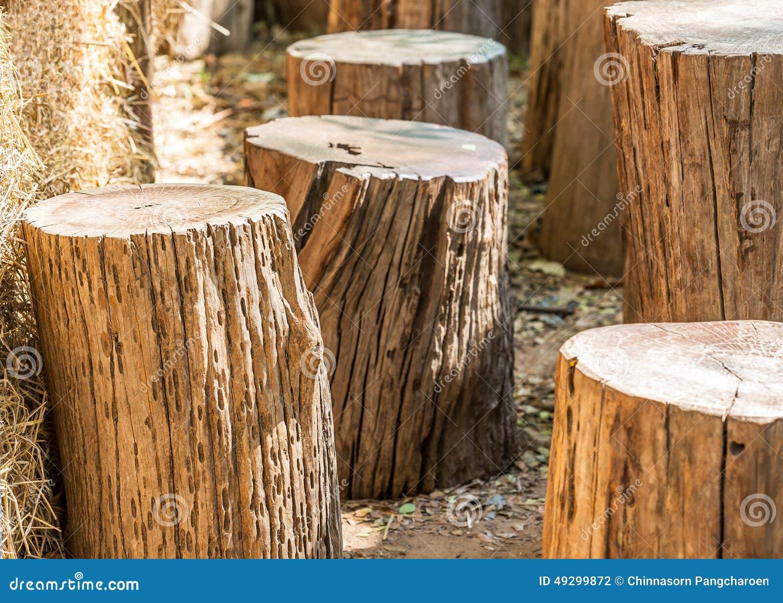 Chaise en bois de rondin en bois photo stock image 49299872 - Rondin de bois pour jardin ...