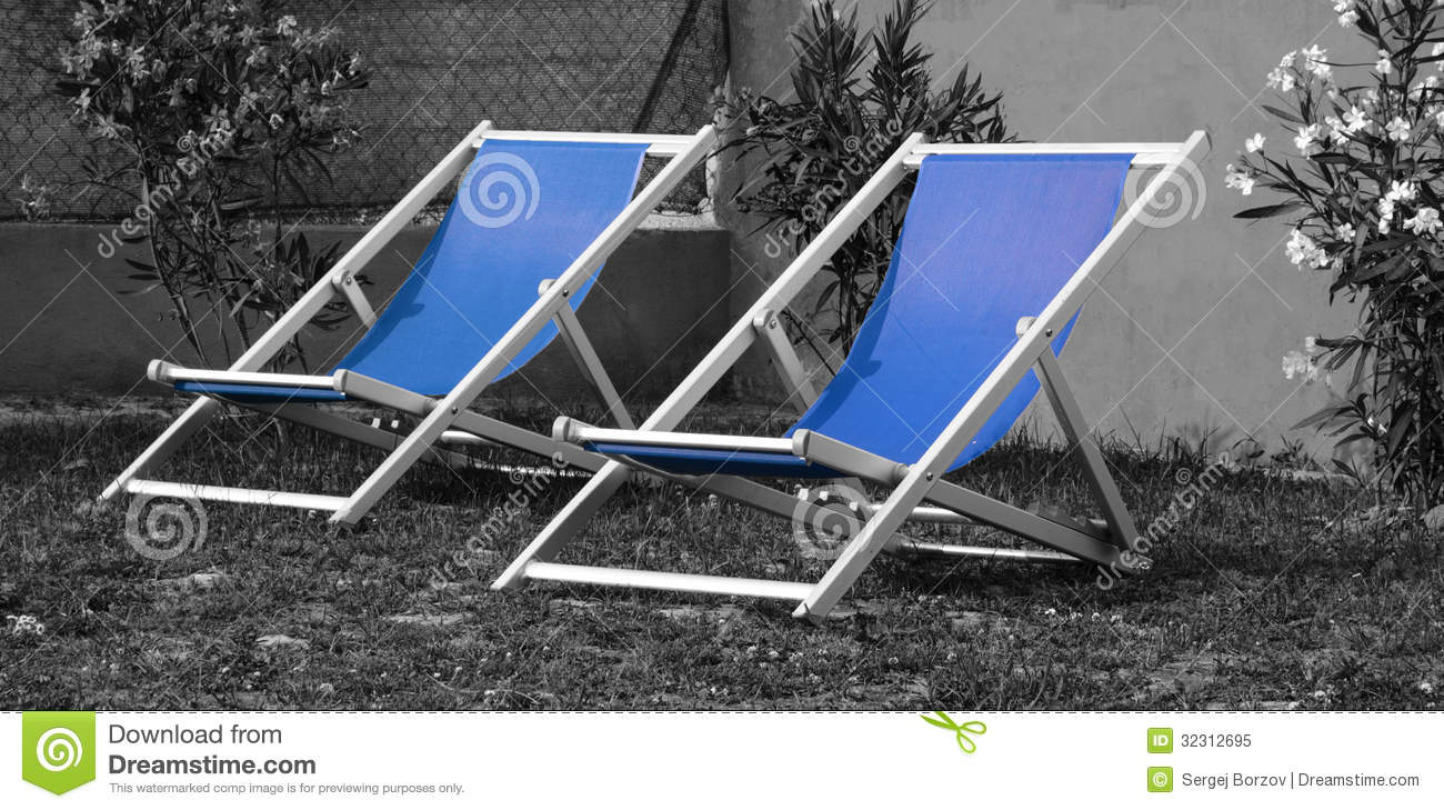 Chaise lounge royalty free stock photo image 32312695 for Chaise lounge beach