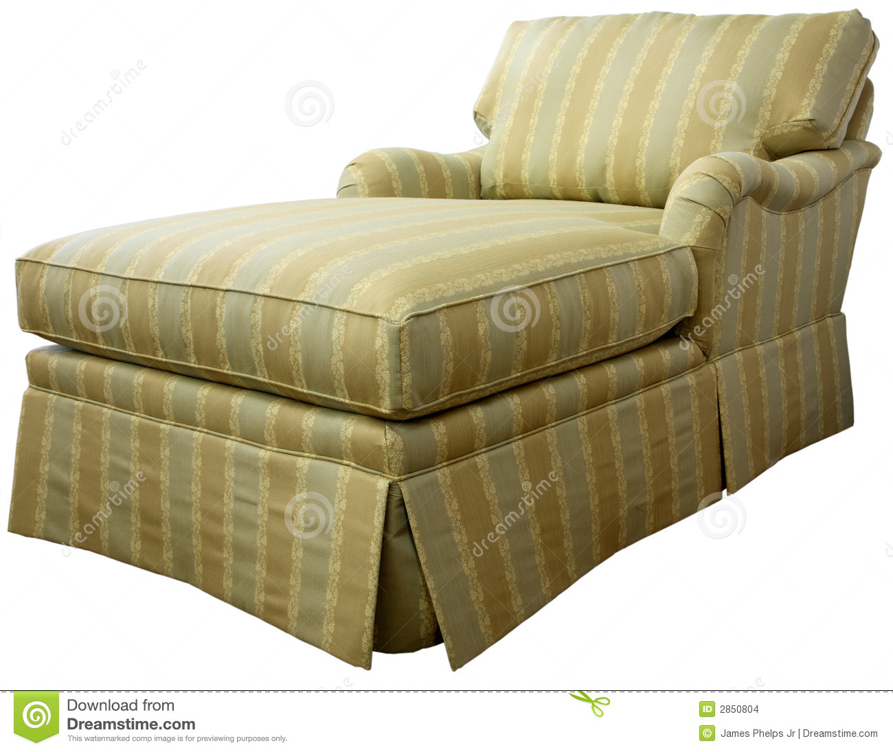 Chaise Lounge Sofa Stock Photo Image Of Furnishings Furniture 2850804