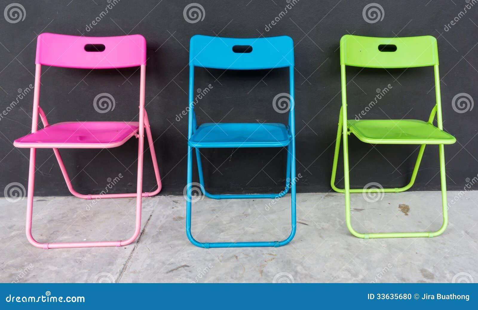 colorée stockImage pliante Chaise photo du bleumétal gYb7f6vy