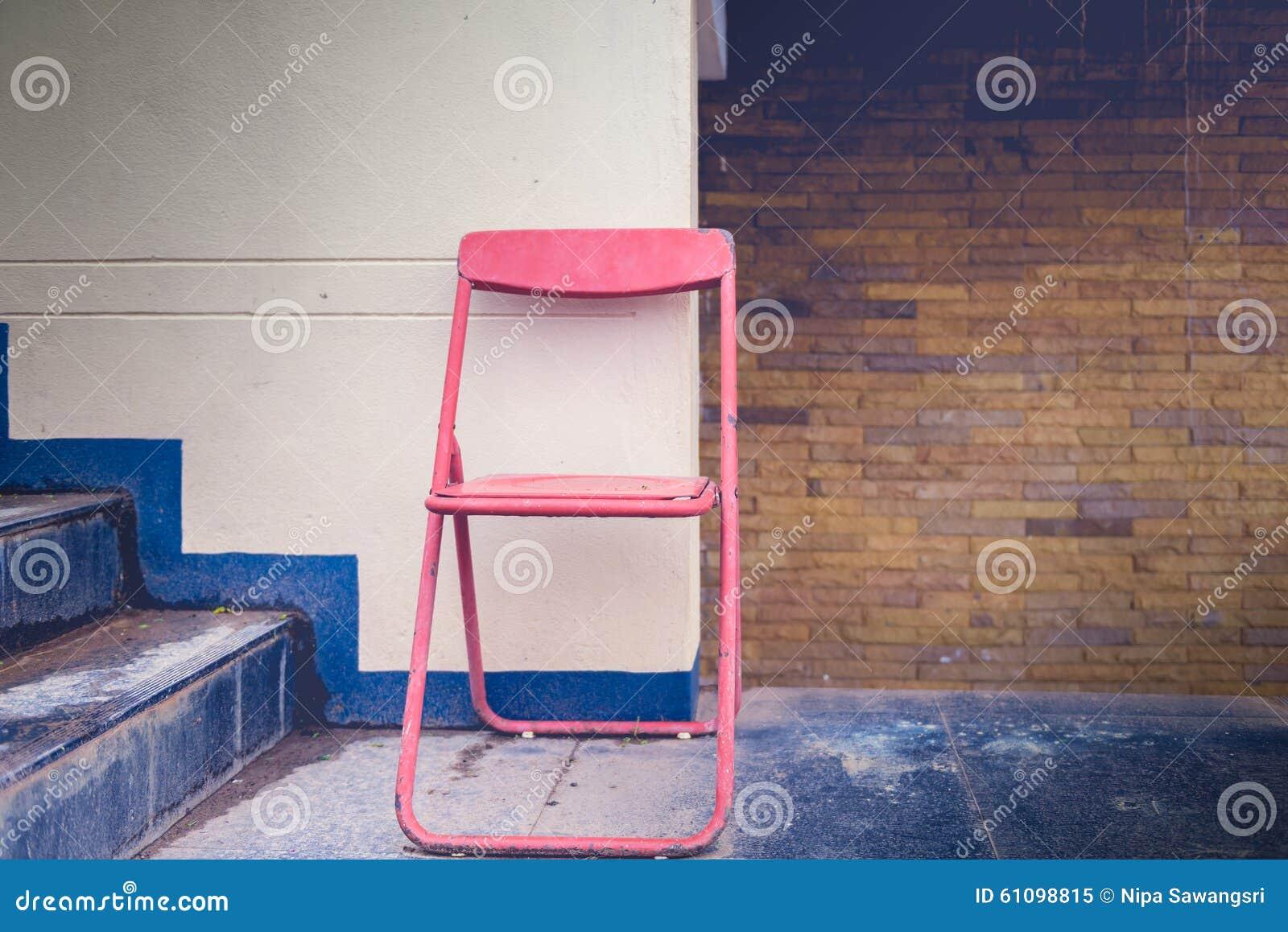 Download Chaise Pliante De Vintage Image Stock Du Sige