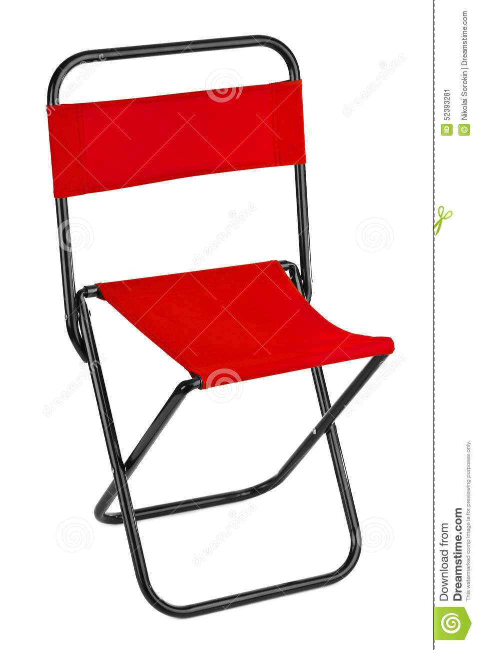 Download Chaise Pliante Rouge Image Stock Du Pliage Fondamental